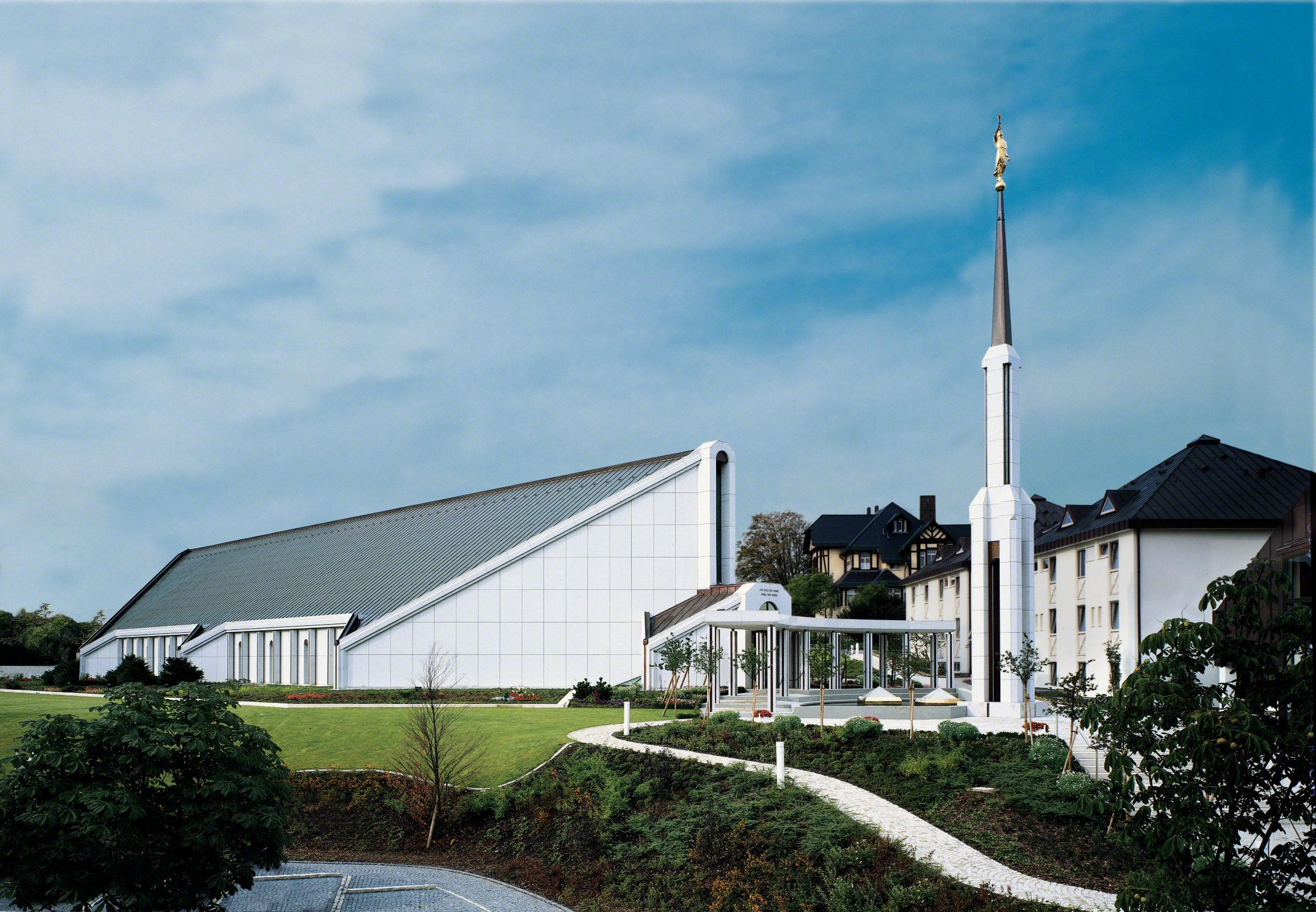The Frankfurt Germany Temple is pictured in an undated photo. Ten weeks after the First Presidency began Phase 1 of reopening Latter-day Saint temples during the pandemic, the leaders began Monday to move toward Phase 2 of reopening the church's most sacred buildings.