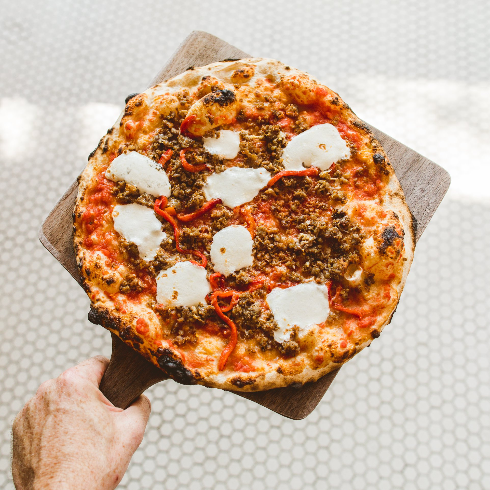 The fennel sausage pizza at the Backspace