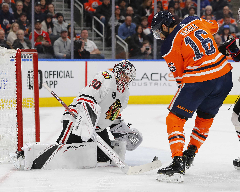 NHL: Chicago Blackhawks at Edmonton Oilers
