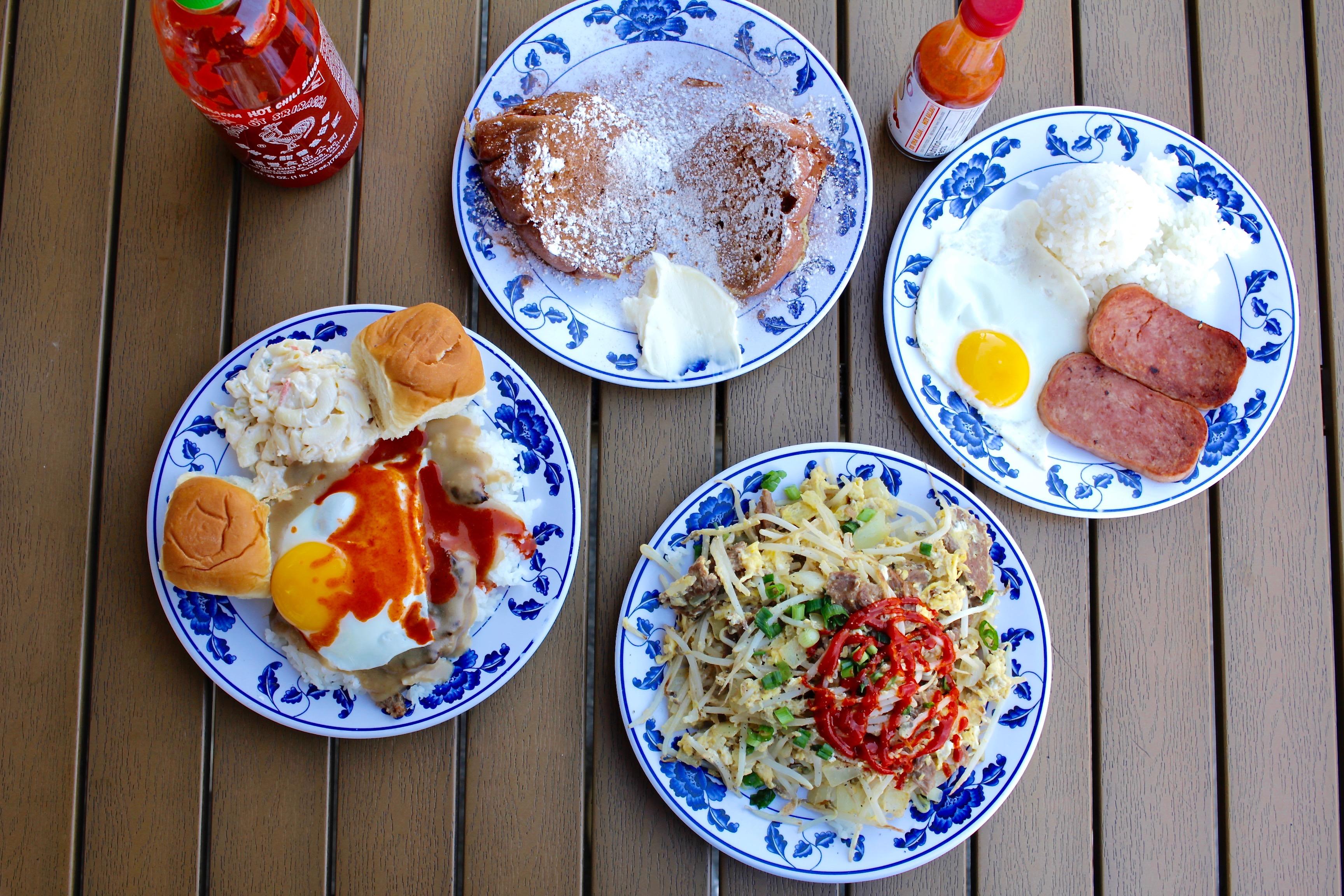 Breakfast plates at Rutt's Hawaiian Cafe in Culver City