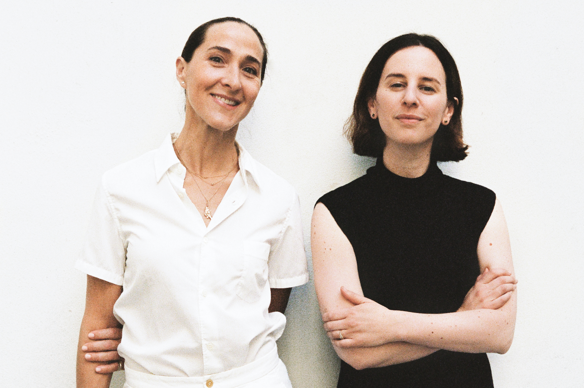 Chefs Gabriela Cámara and Jessica Koslow stand for a portrait.