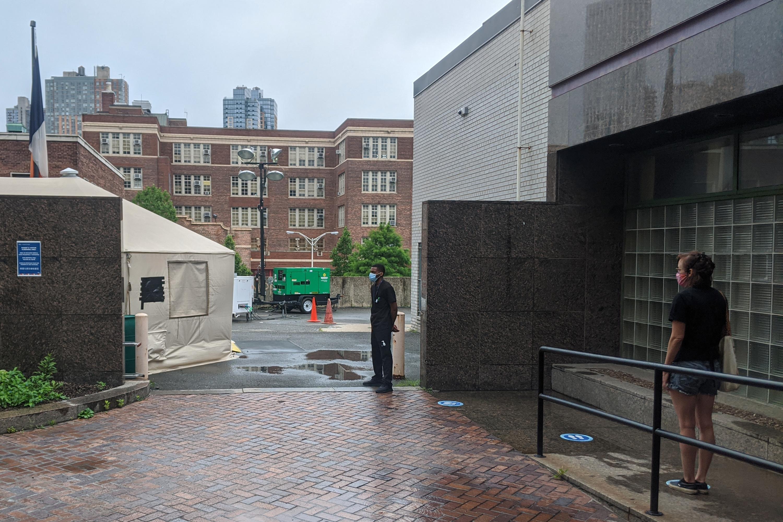 A Health + Hospitals coronavirus testing center at Gotham Health in Fort Greene, Brooklyn, July 17, 2020.