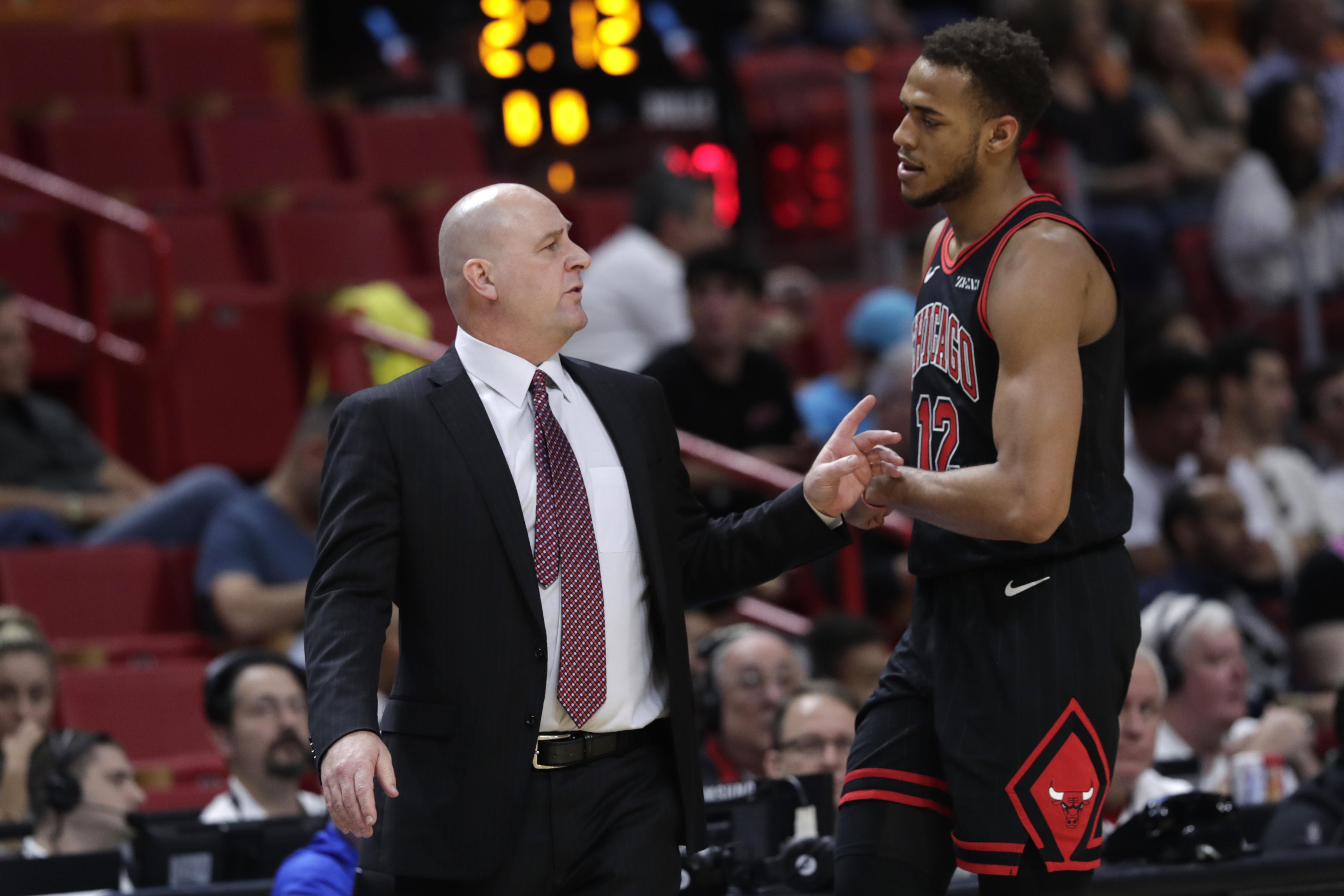 The Bulls' Daniel Gafford didn't exactly give coach Jim Boylen a ringing endorsement.