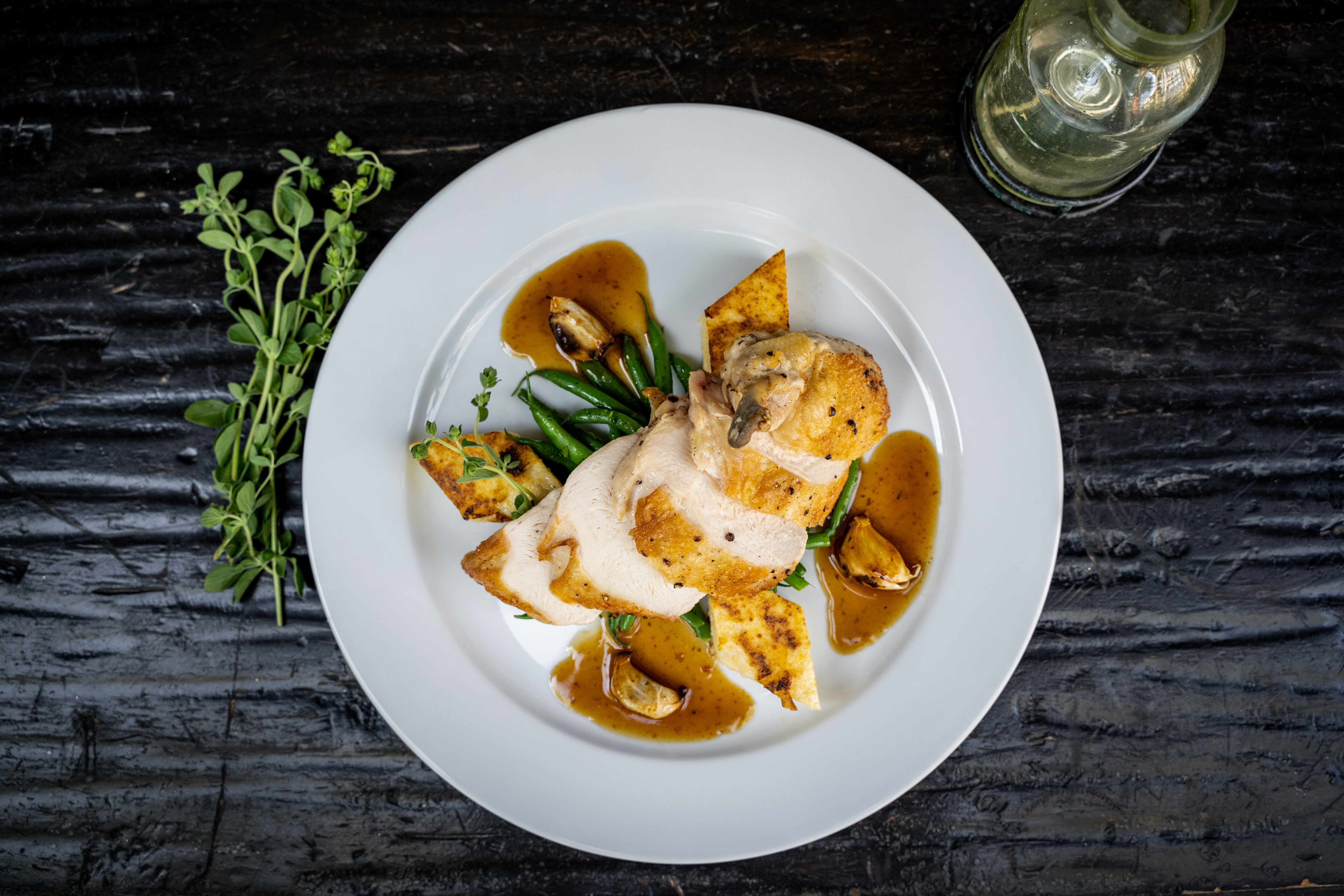 The chicken breast at Harlowe restaurant in West Hollywood, California