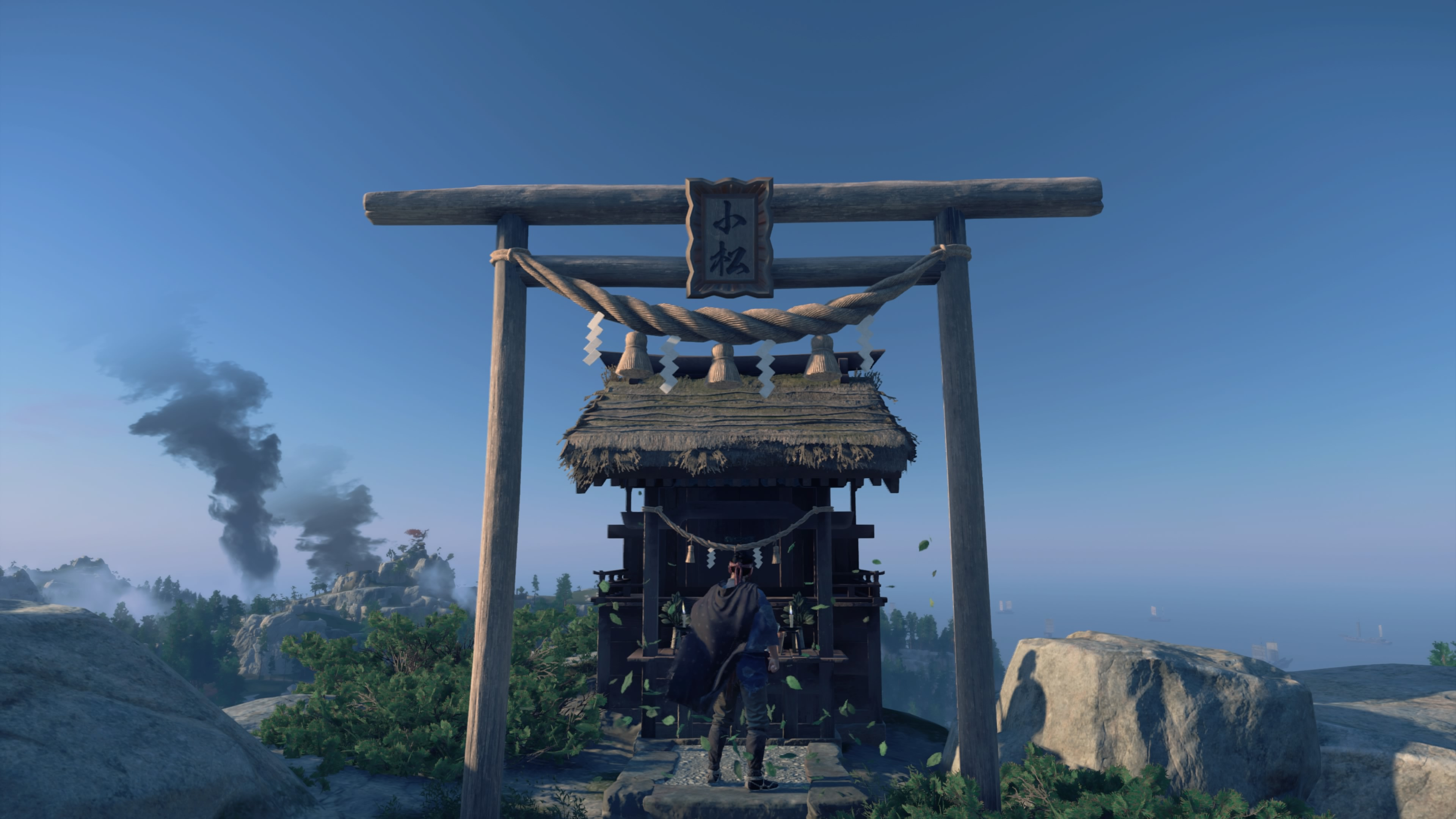 A large shrine in Ghost of Tsushima
