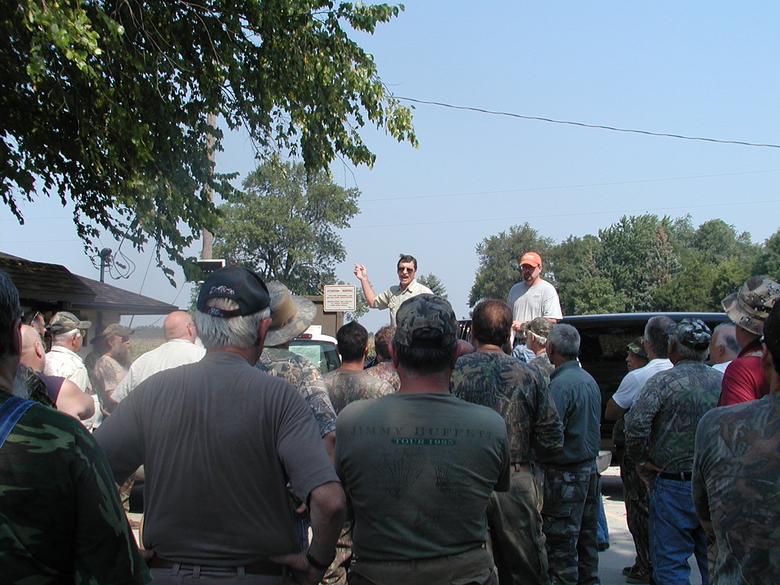 File photo of retired site superintendent Frank Snow conducting the draw for opening day of dove hunting at Iroquois County State Wildlife Area. Credit: Dale Bowman