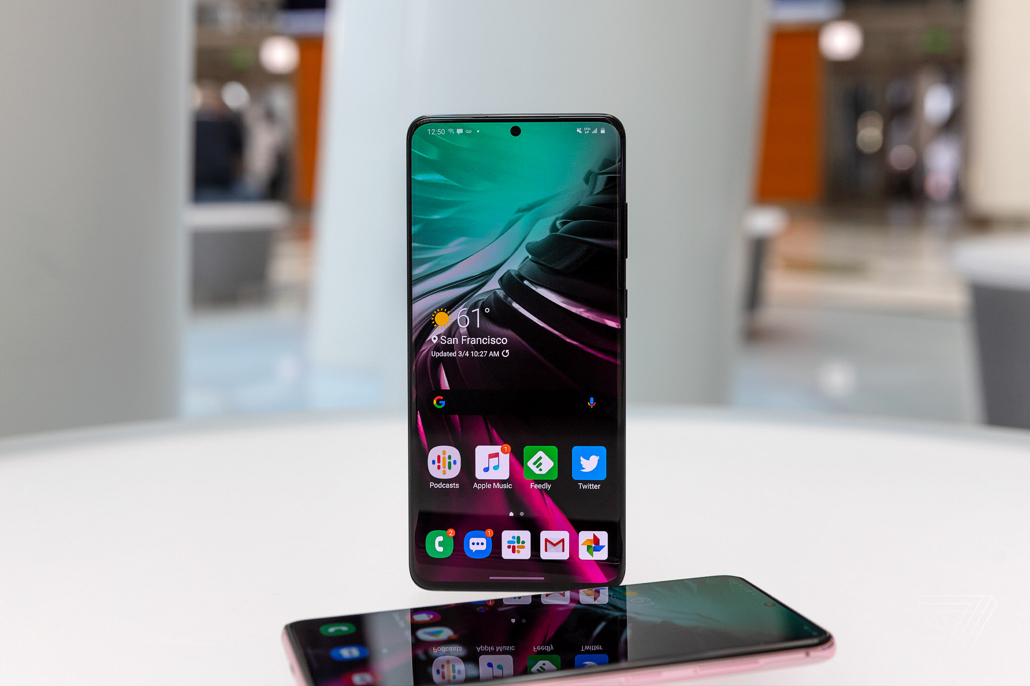 The Samsung Galaxy S20 Plus smartphone