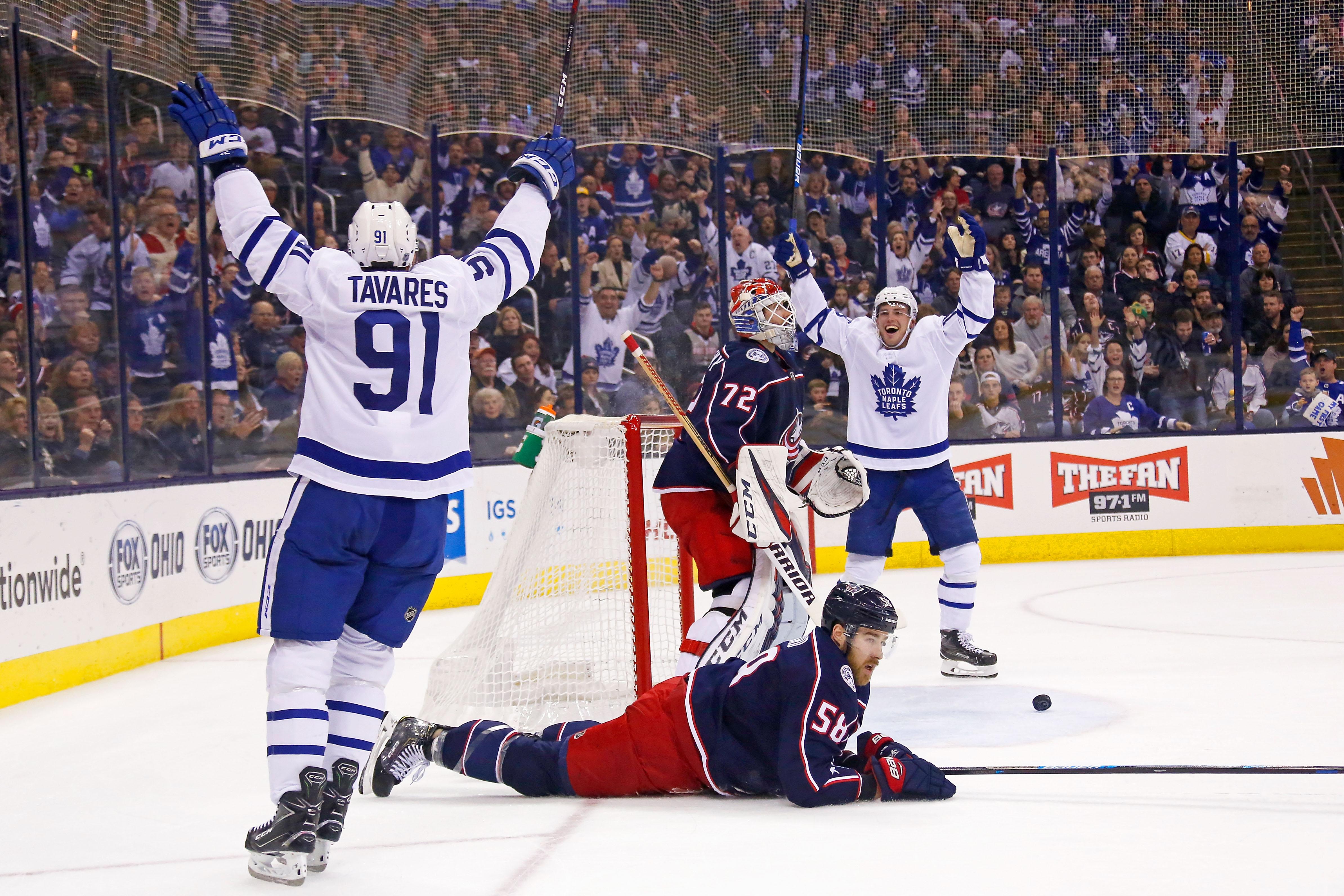 Toronto Maple Leafs v Columbus Blue Jackets