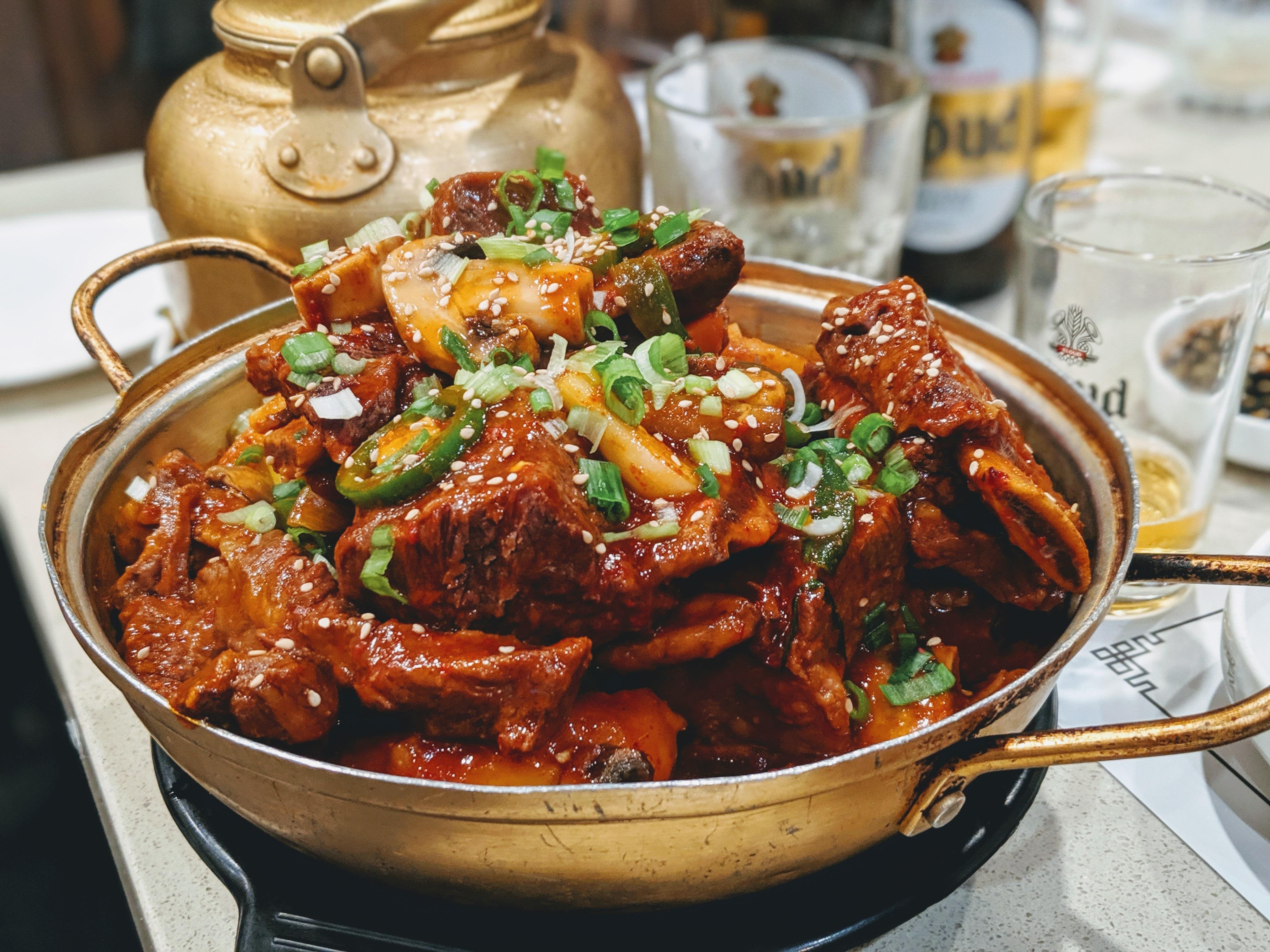 Galbi jjim at Jun Won restaurant in Koreatown, Los Angeles.