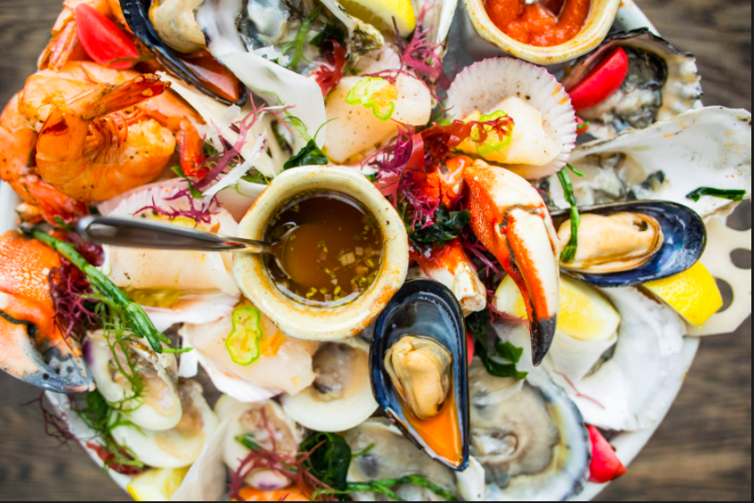 A seafood tower