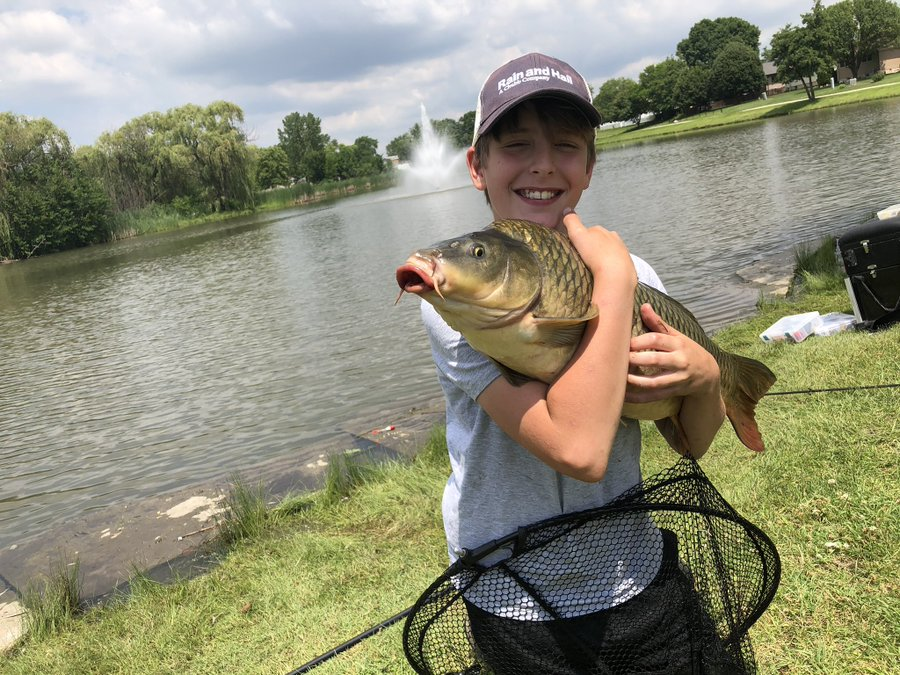 Alex, visiting Chicago from Cincinnati, caught the biggest fish of his life.  Provided by Johnny Wilkins of Chicago Fishing School