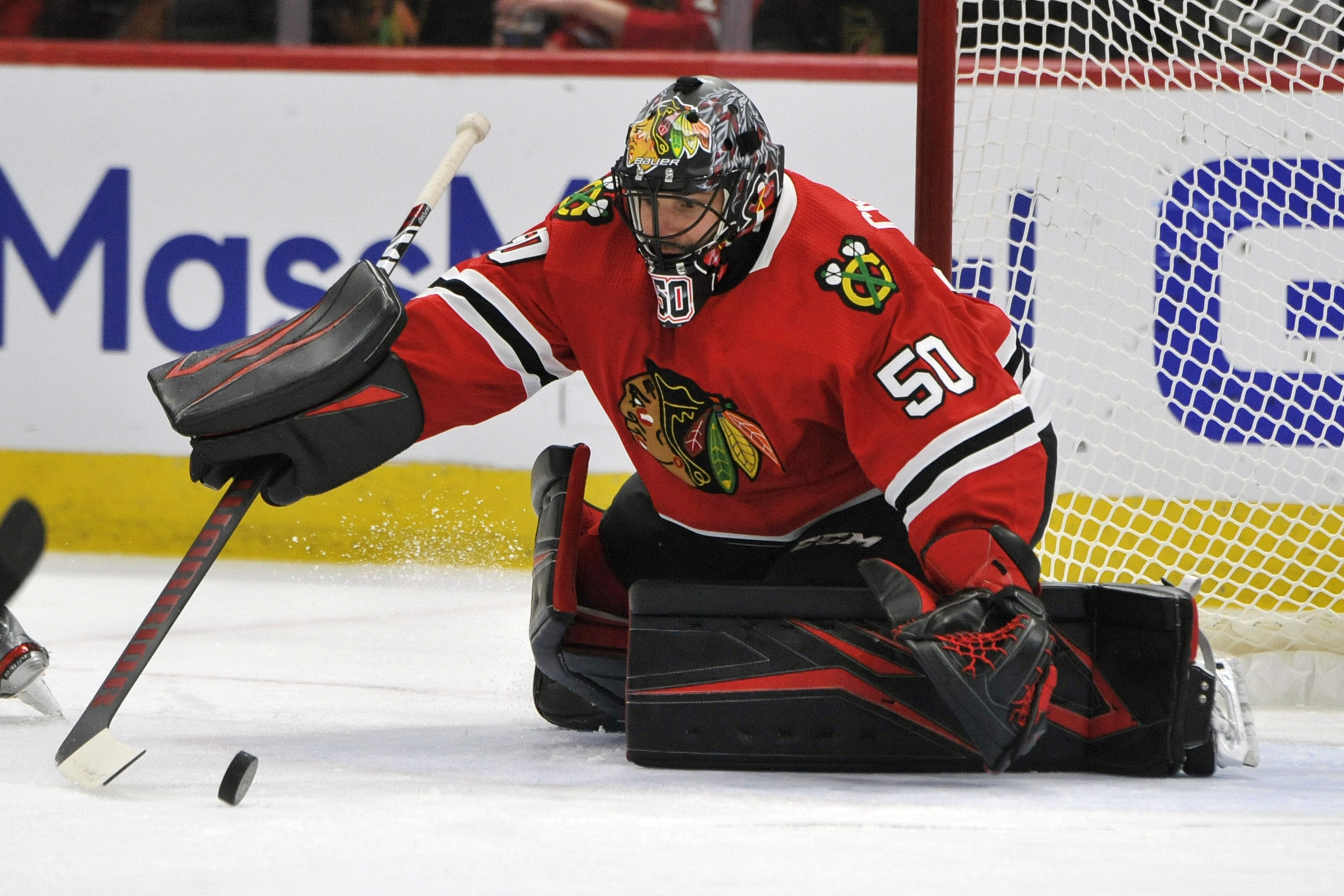 Goalie Corey Crawford is expected to be on the ice when the Blackhawks return to play this week.