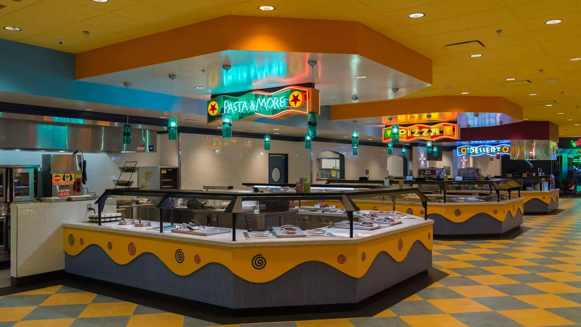 The buffet at John's Incredible Pizza