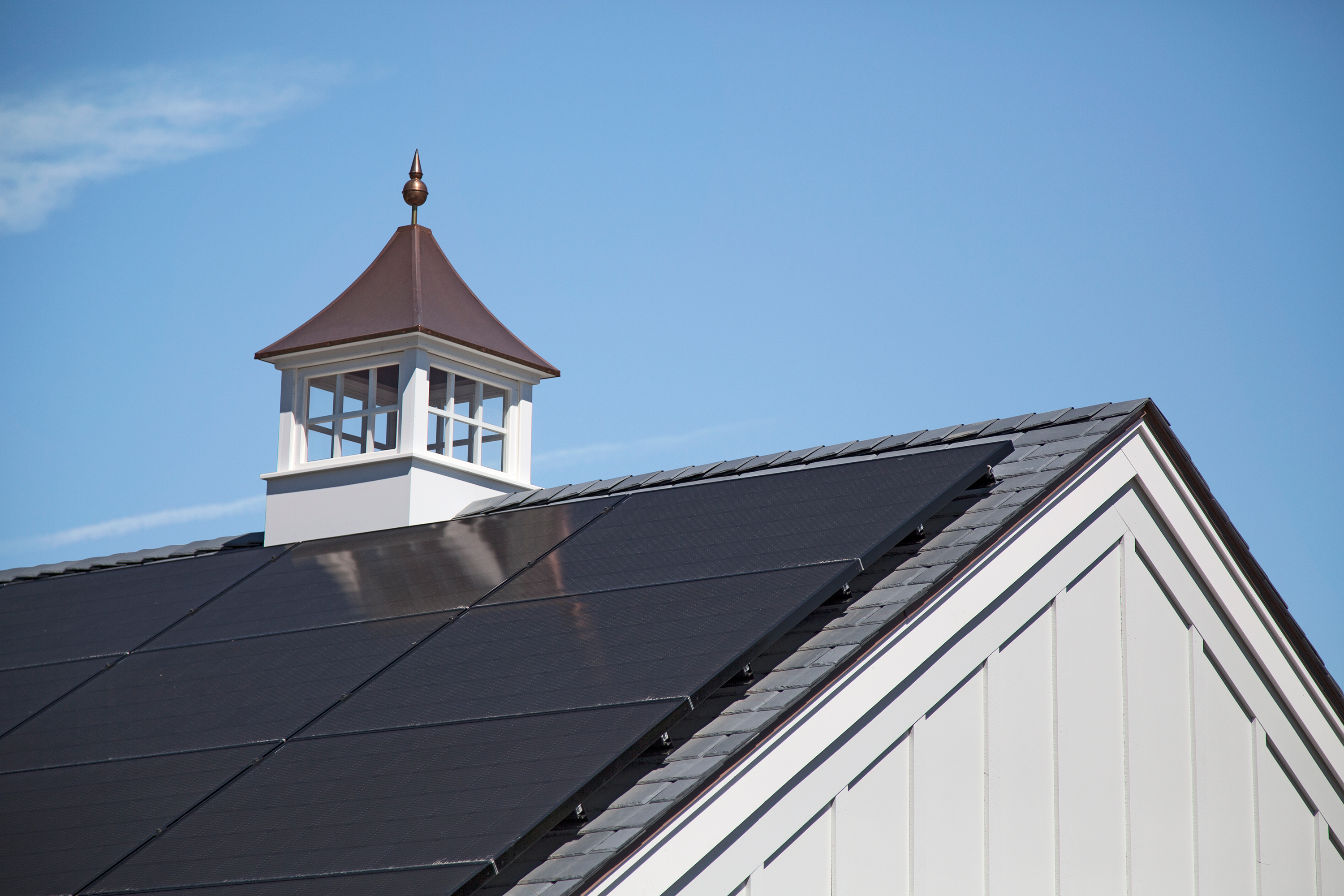 Solar panels on home roof.