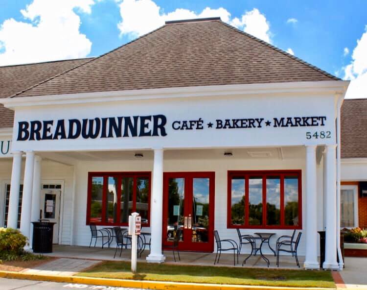 The outside of the new Breadwinner Cafe in Dunwoody, Georgia