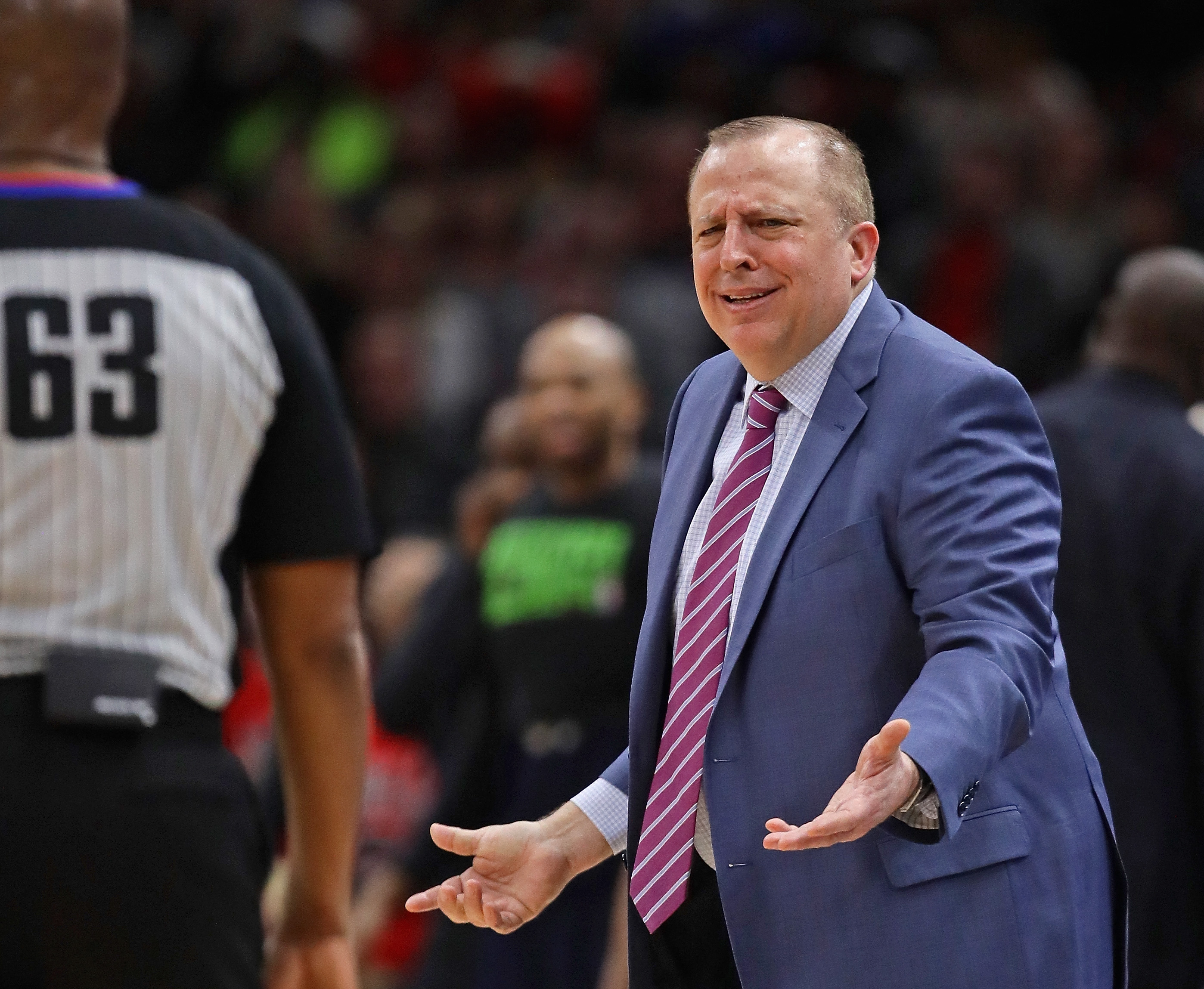 The Knicks have hired Tom Thibodeau as their head coach. He had a 255-139 record with the Bulls.