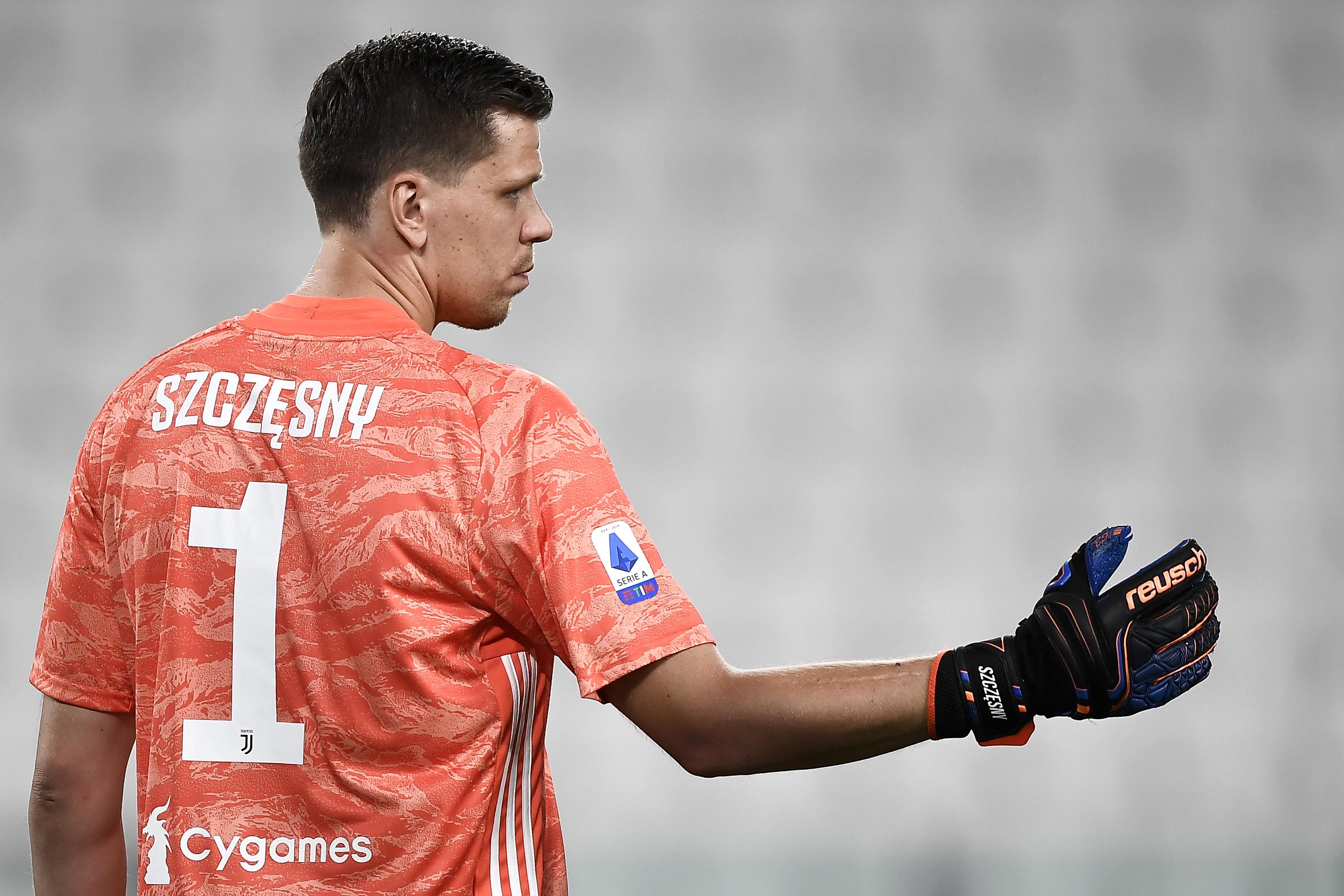 Wojciech Szczesny of Juventus FC looks on during the Serie A...