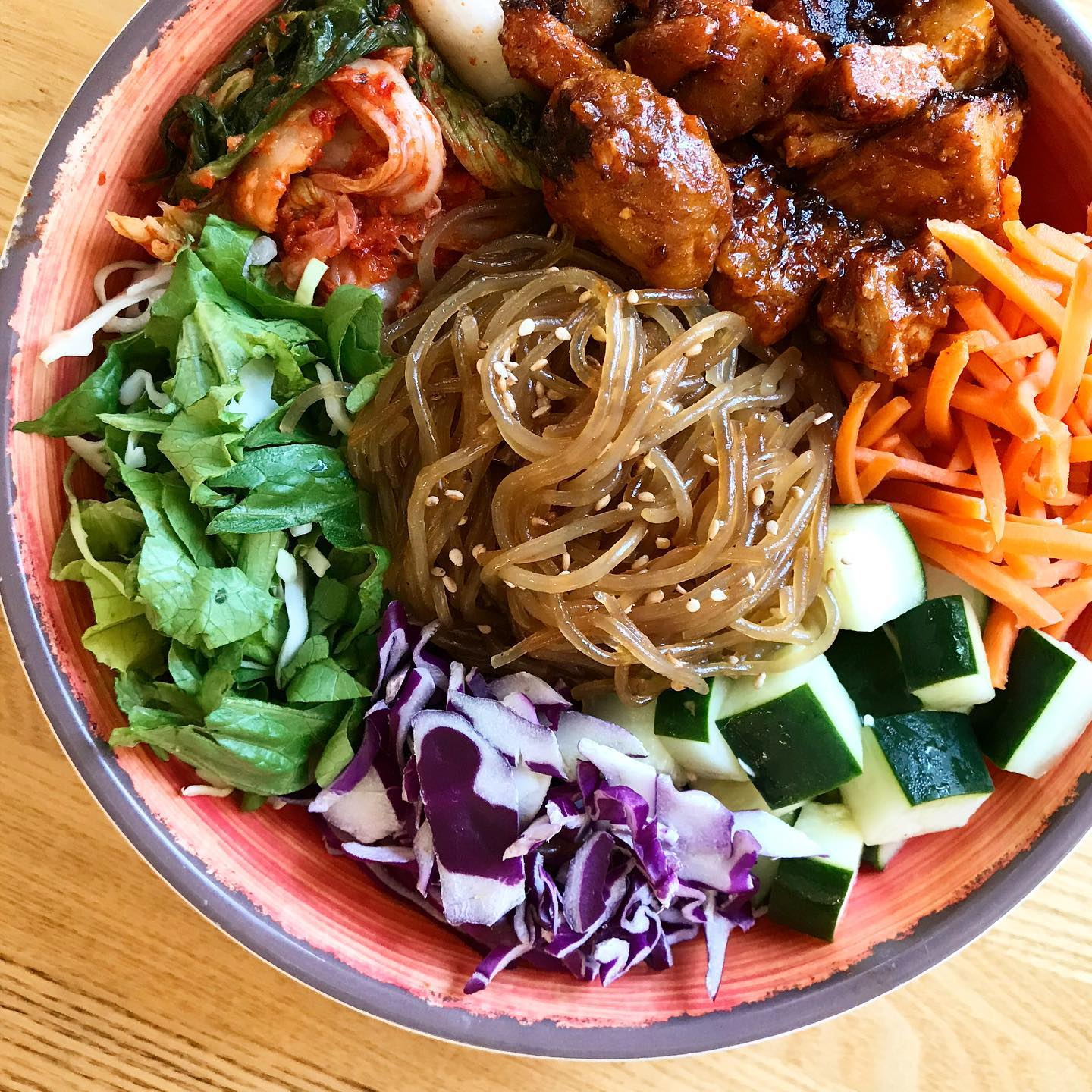 A noodle bowl from Chi'lantro