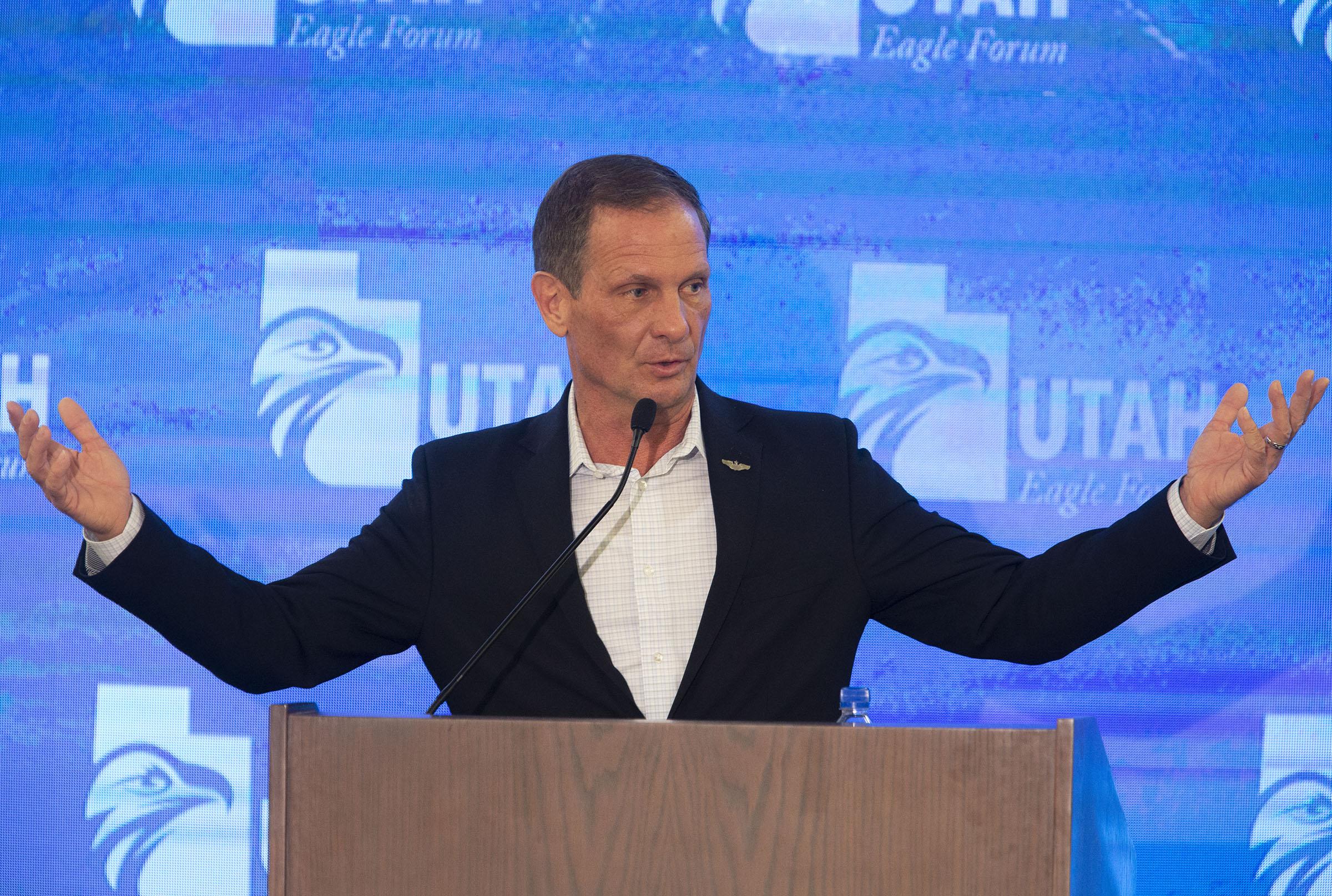 Rep. Chris Stewart, R-Utah, speaks during the annual Utah Eagle Forum convention in Sandy on Saturday, Jan. 11, 2020.
