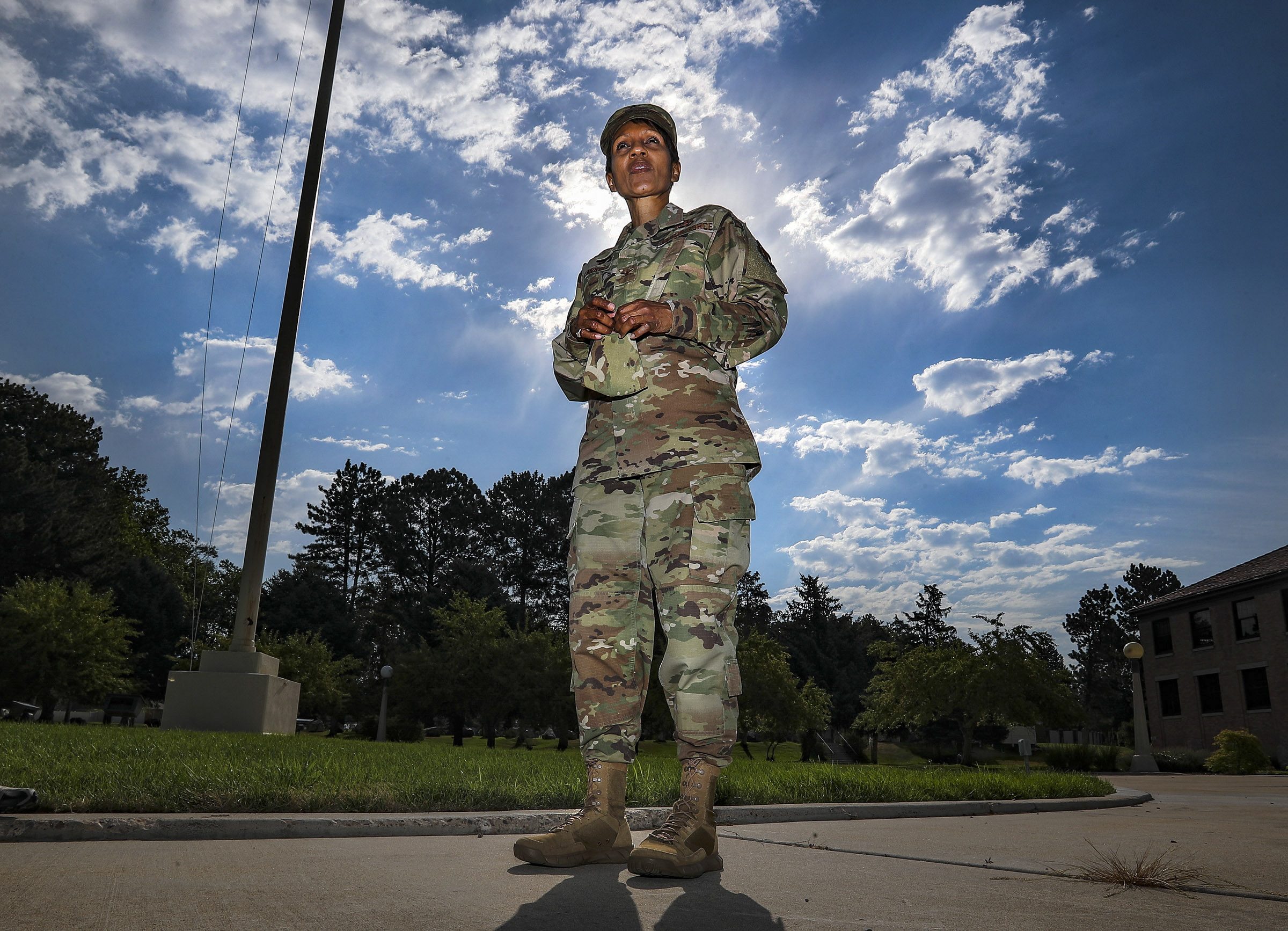 Col. Jenise M. Carroll, the new 75th Air Base Wing commander at Hill Air Force Base, talks about her new position at the base near Clearfield on Monday, Aug. 3, 2020.