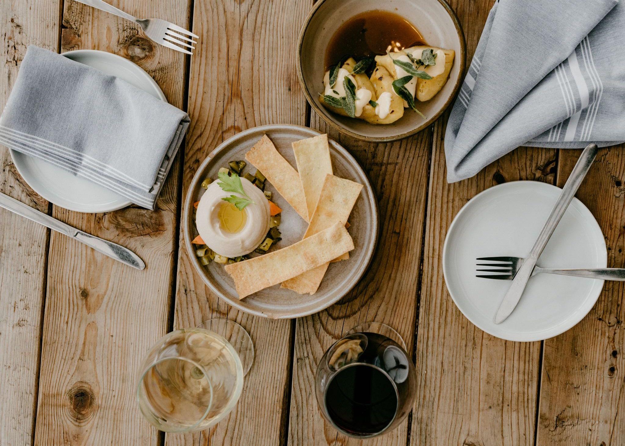 A meal spread at Intero