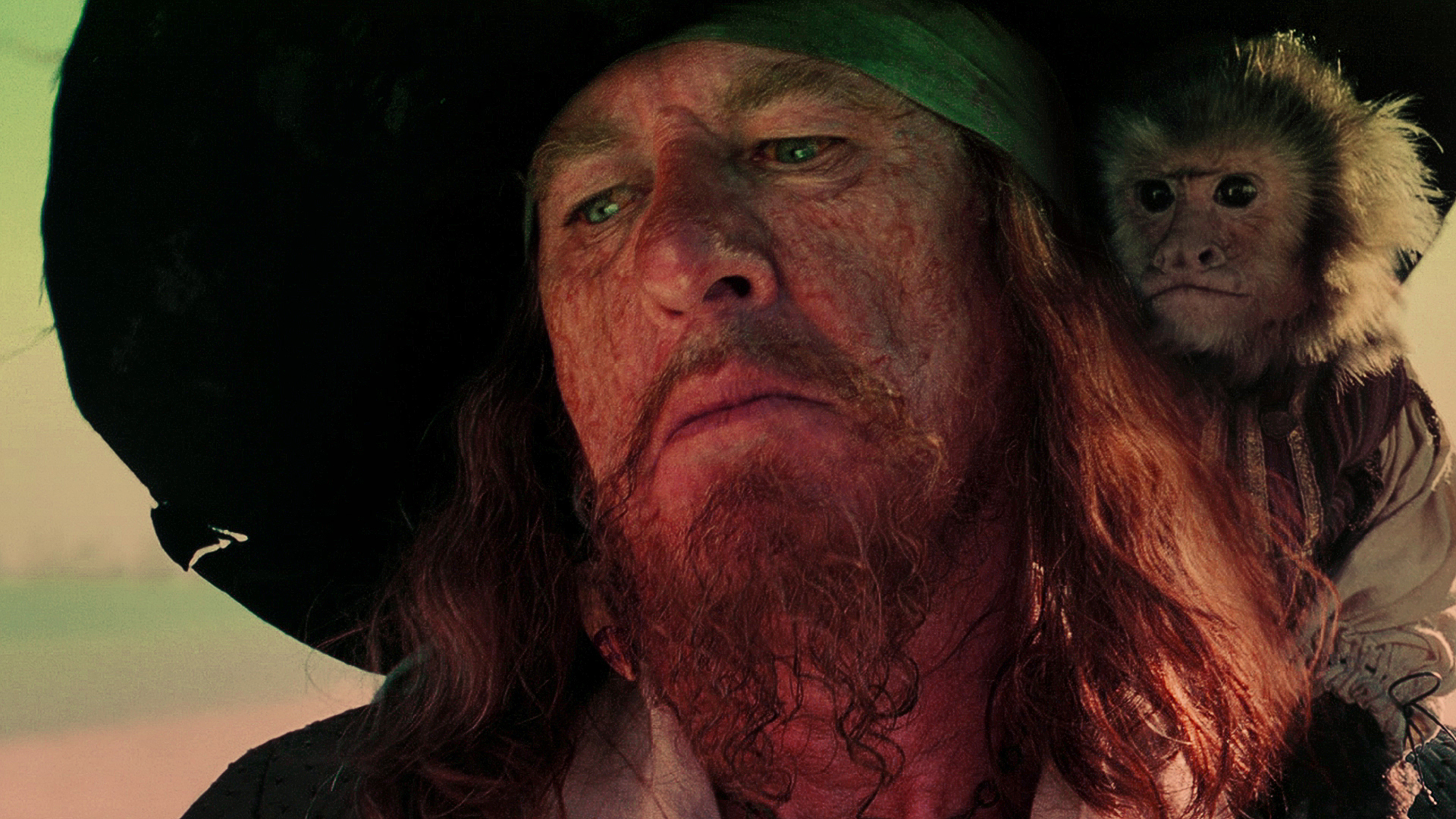 Photo of actor Geoffrey Rush as Barbossa in Pirates of the Caribbean