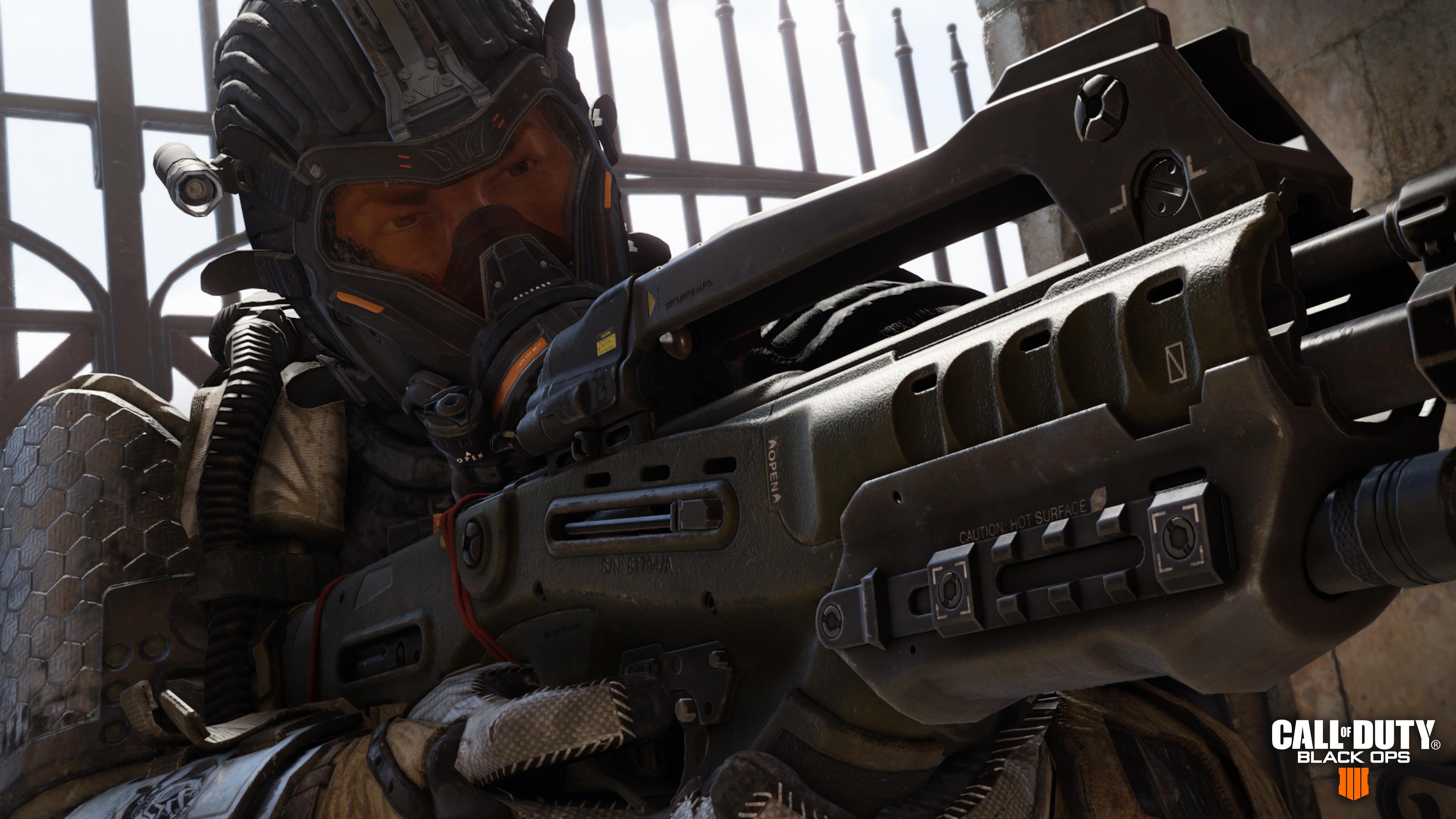 Call of Duty: Black Ops 4 - Firebreak aiming a gun
