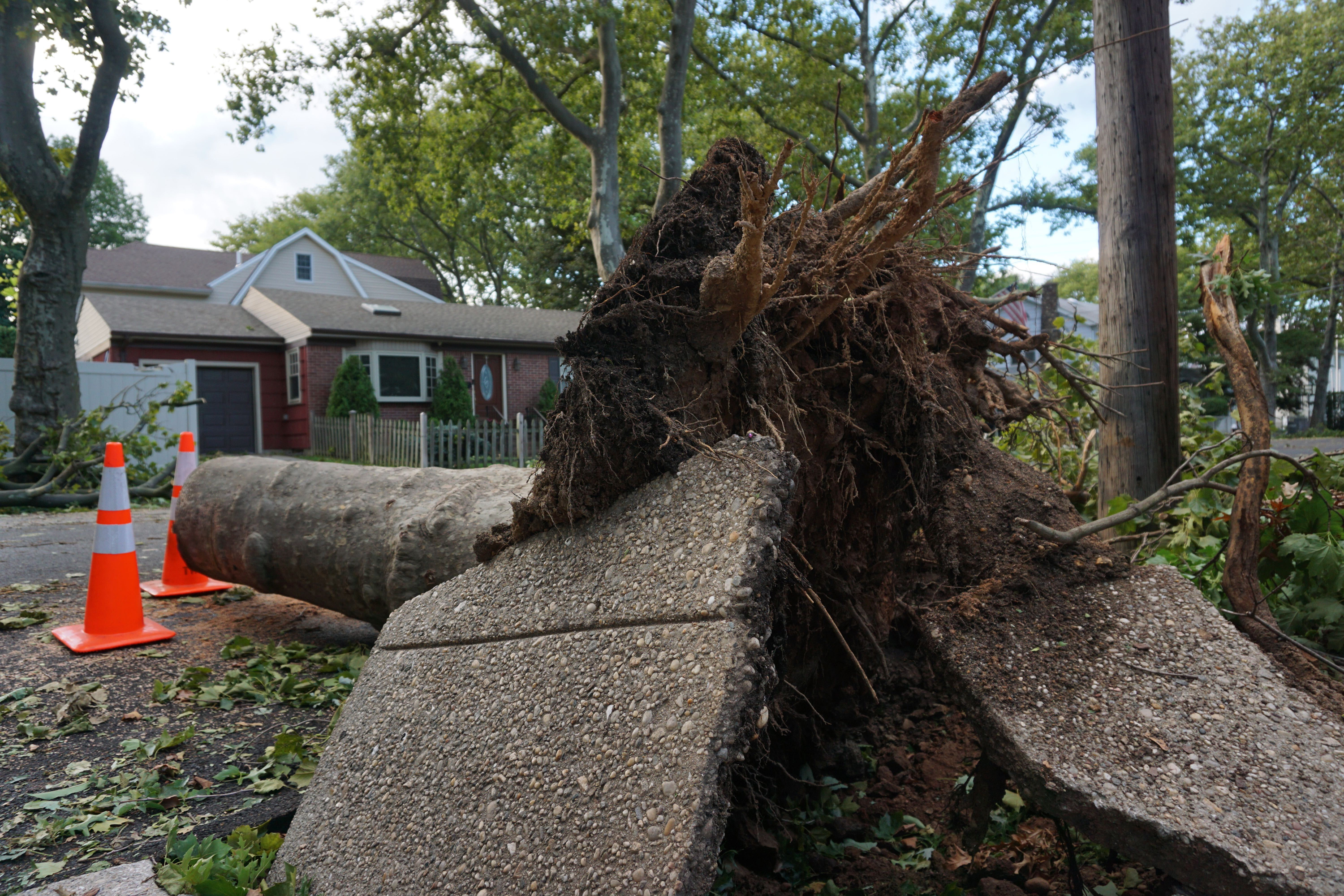 New Dorp beach in Staten Island had a major power outage after Tropical Storm Isaias pummeled the costal neighborhood, Aug. 4, 2020.