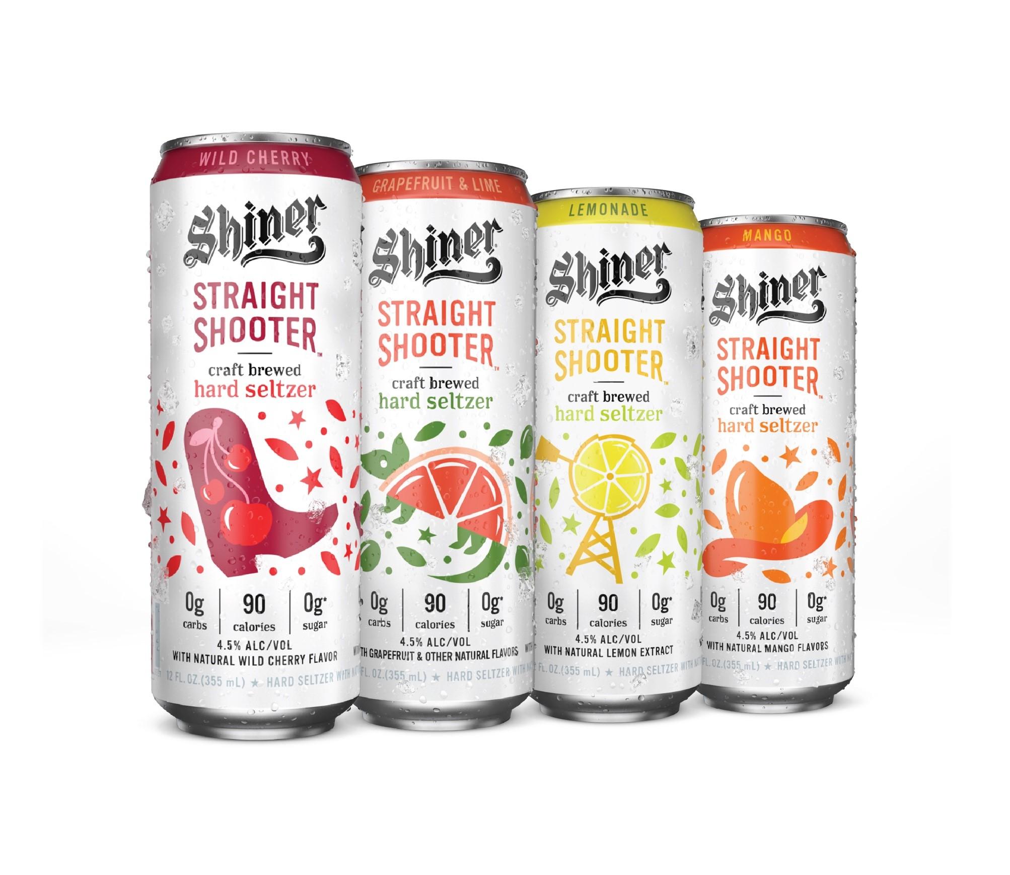 The Shiner Straight Shooter hard seltzer