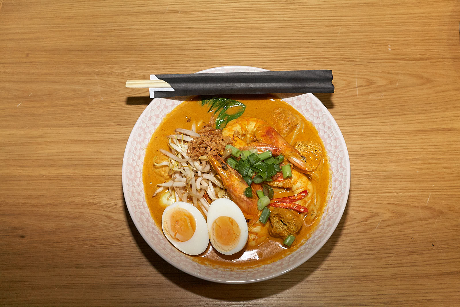 Curry prawn laksa at Normah's in Bayswater, one of the best-value restaurants in London