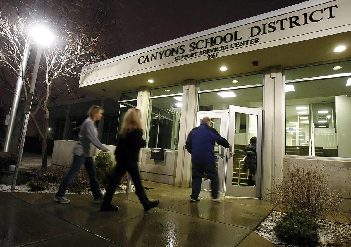 Hundreds turn out for the Canyons School board meeting. The Canyons School District is seeking nominations at each school for 2014 Teacher of the Year awards.
