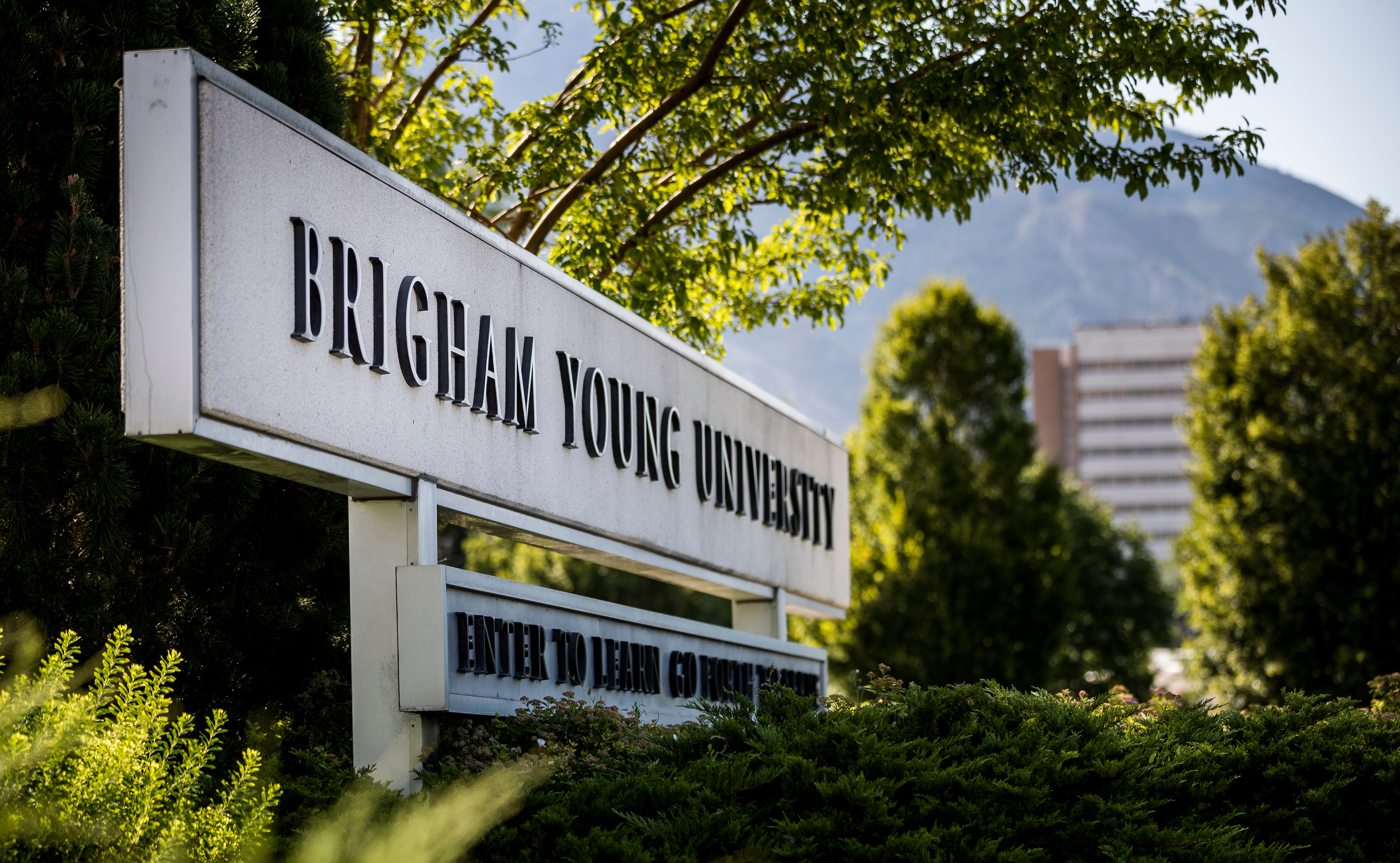 20170717 The entrance sign to BYU on July 17, 2017.