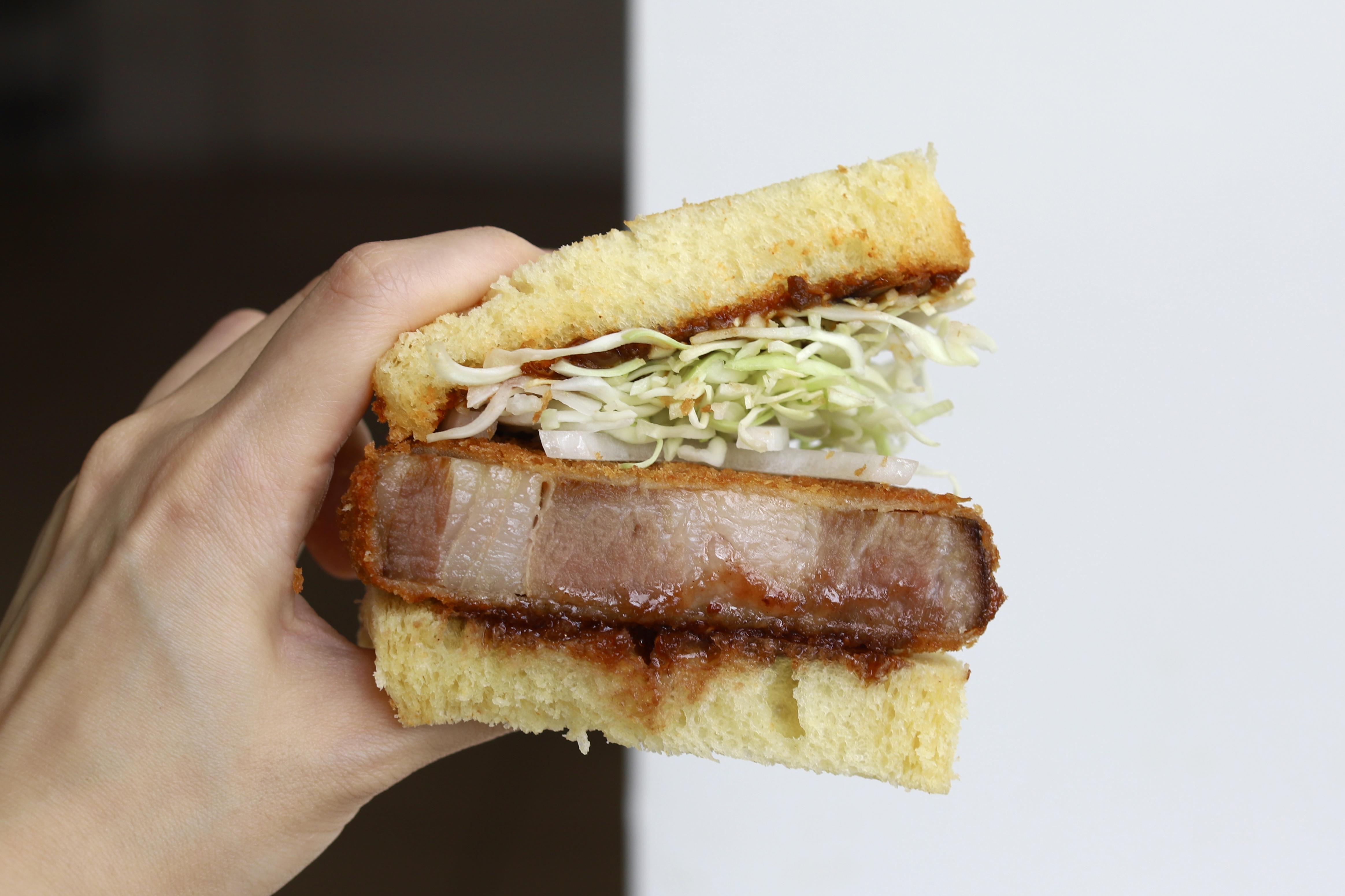 Tātā Eatery and Tōu's Iberican pork katsu sando, created at home