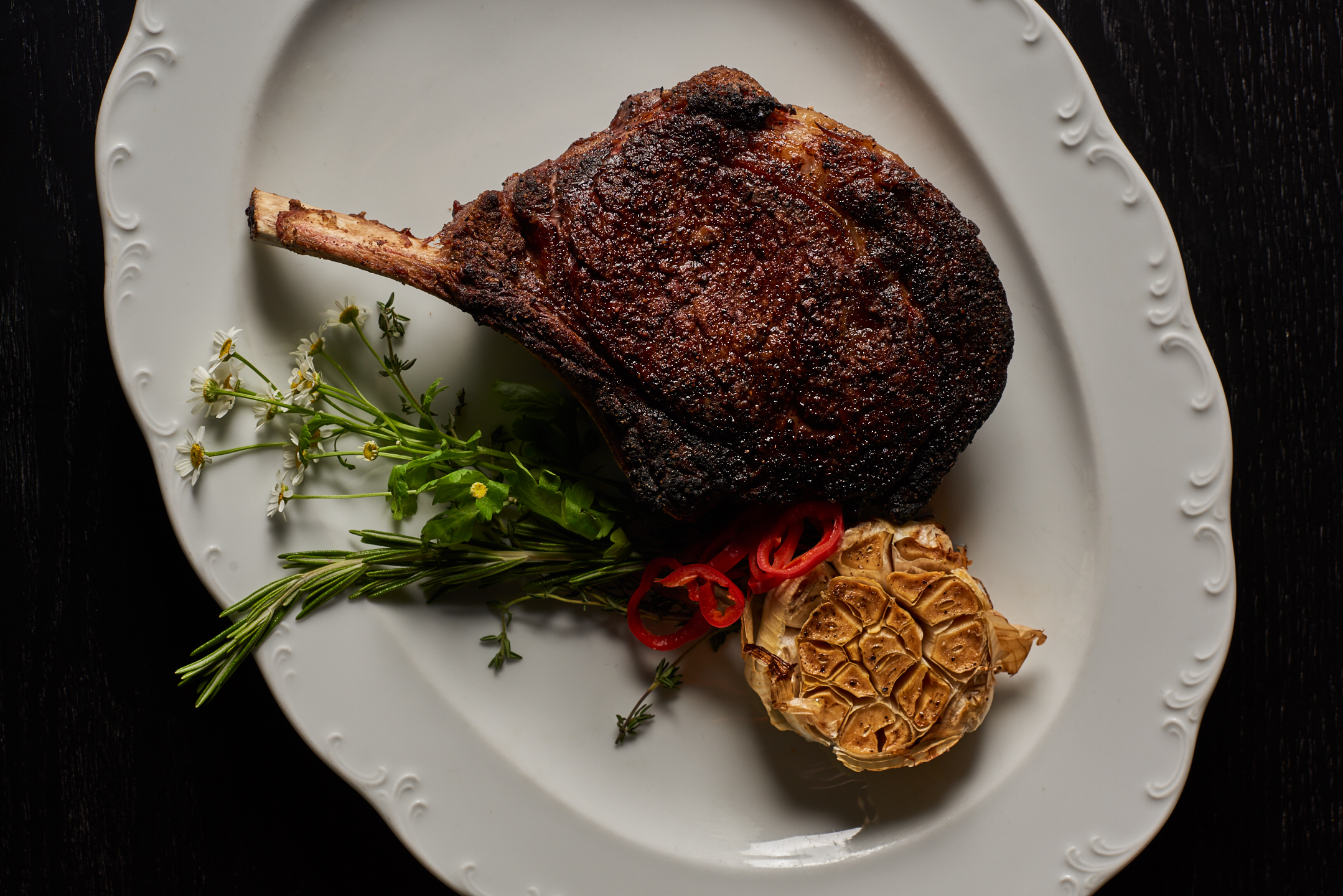 A 20-ounce bone-in ribeye steak
