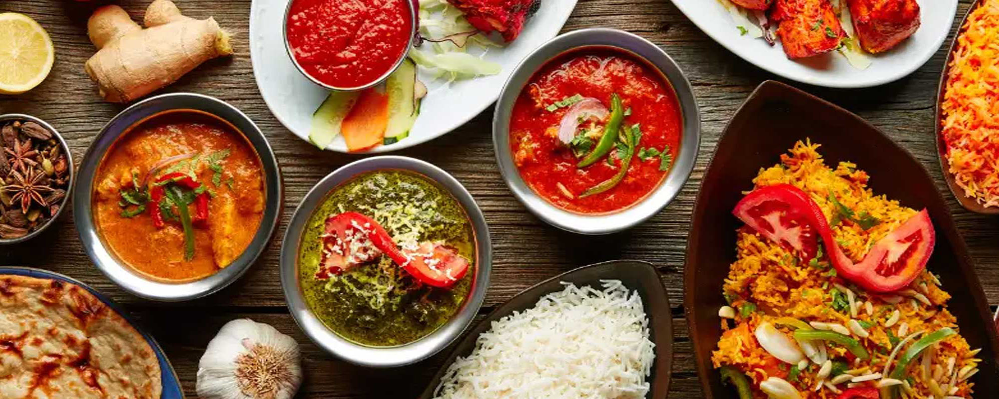 An array of Indian dishes