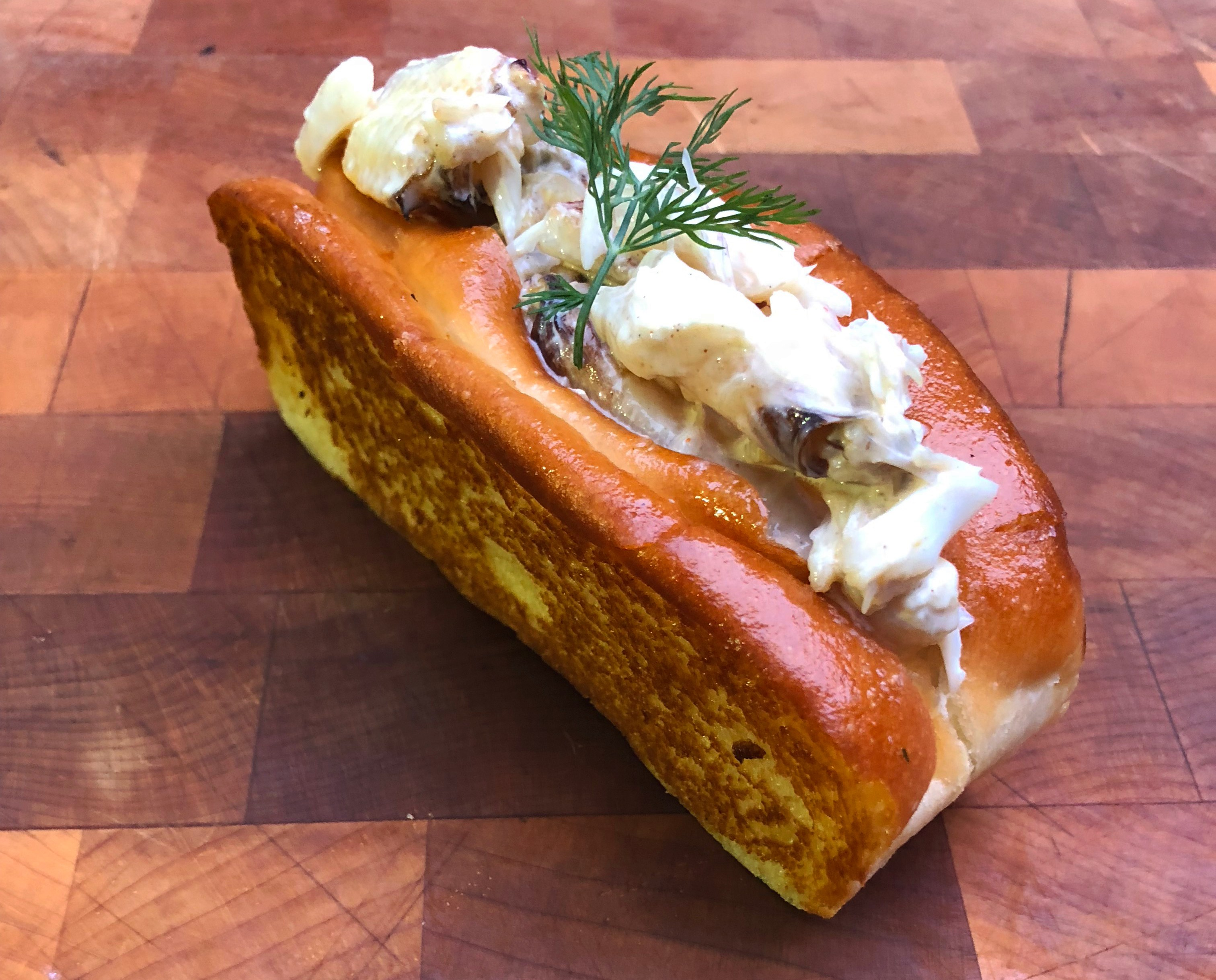 Pictured is a crab roll from Fremont's Local Tide
