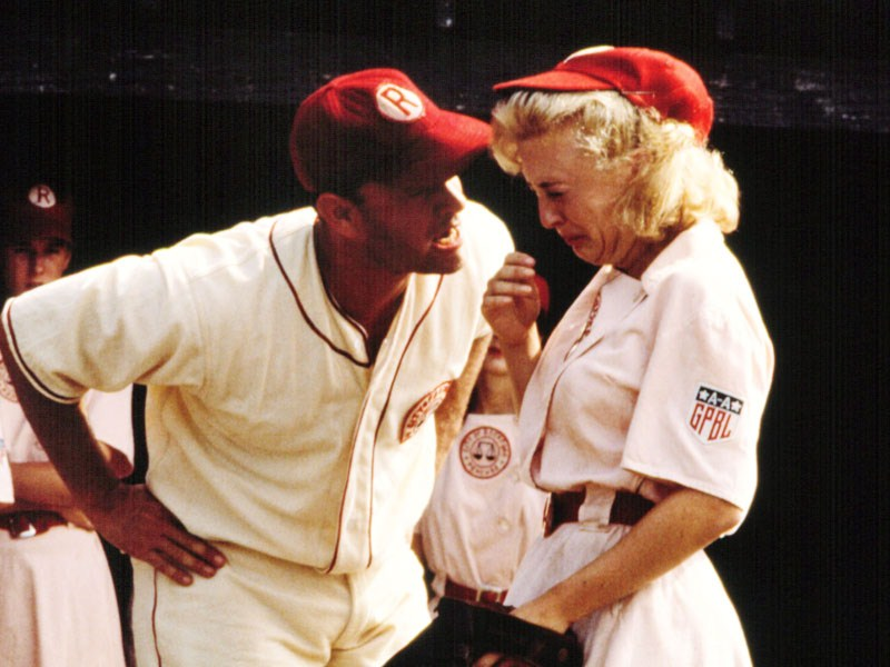 "Tom Hanks, left, and Bitty Schram in a scene from the film ""A League of Their Own."" Amazon is launching a new TV series based on the movie."
