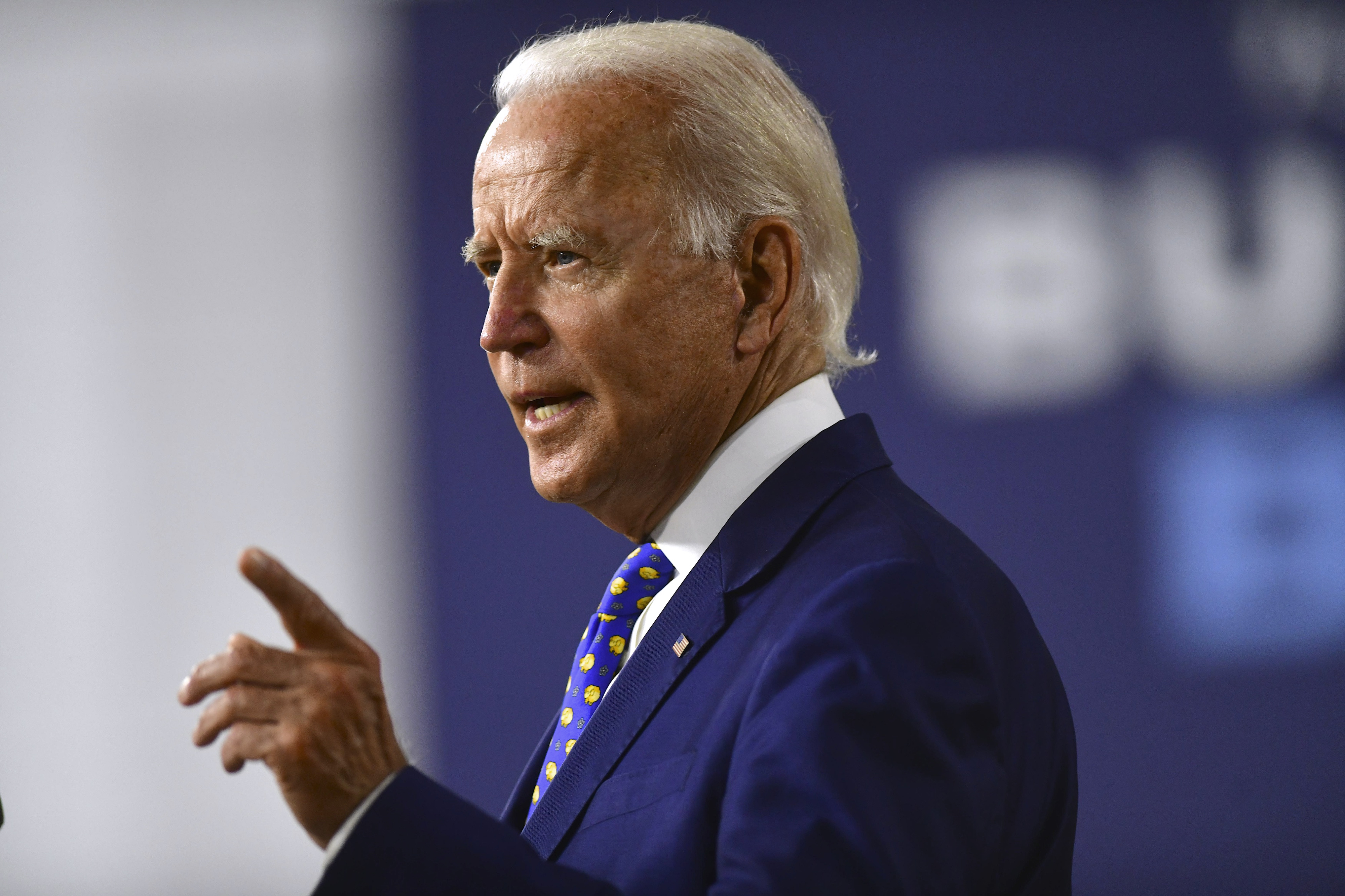 Presidential Candidate Joe Biden Makes Economic Address In Wilmington, Delaware
