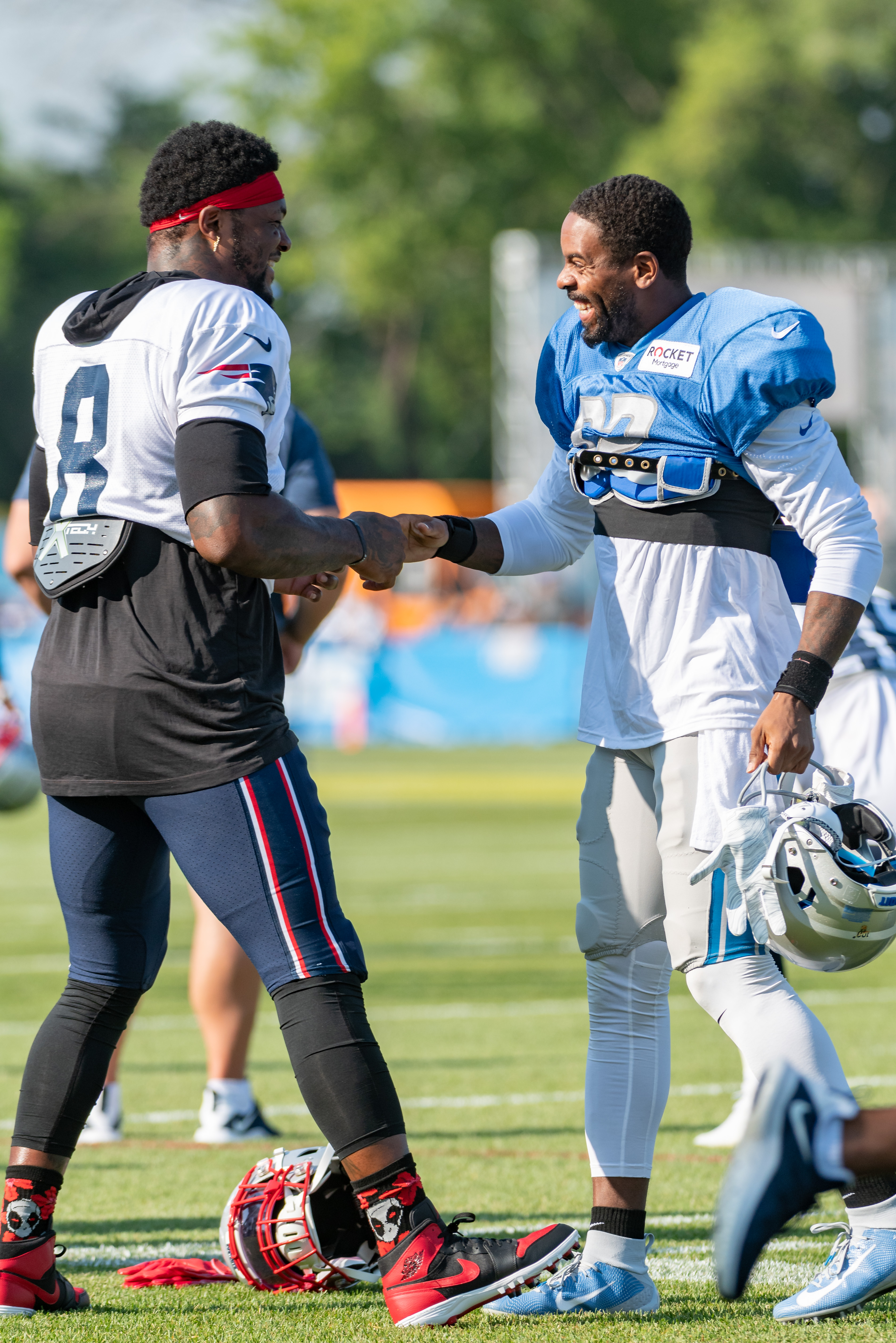 NFL: AUG 05 Lions-Patriots Joint Training Camp