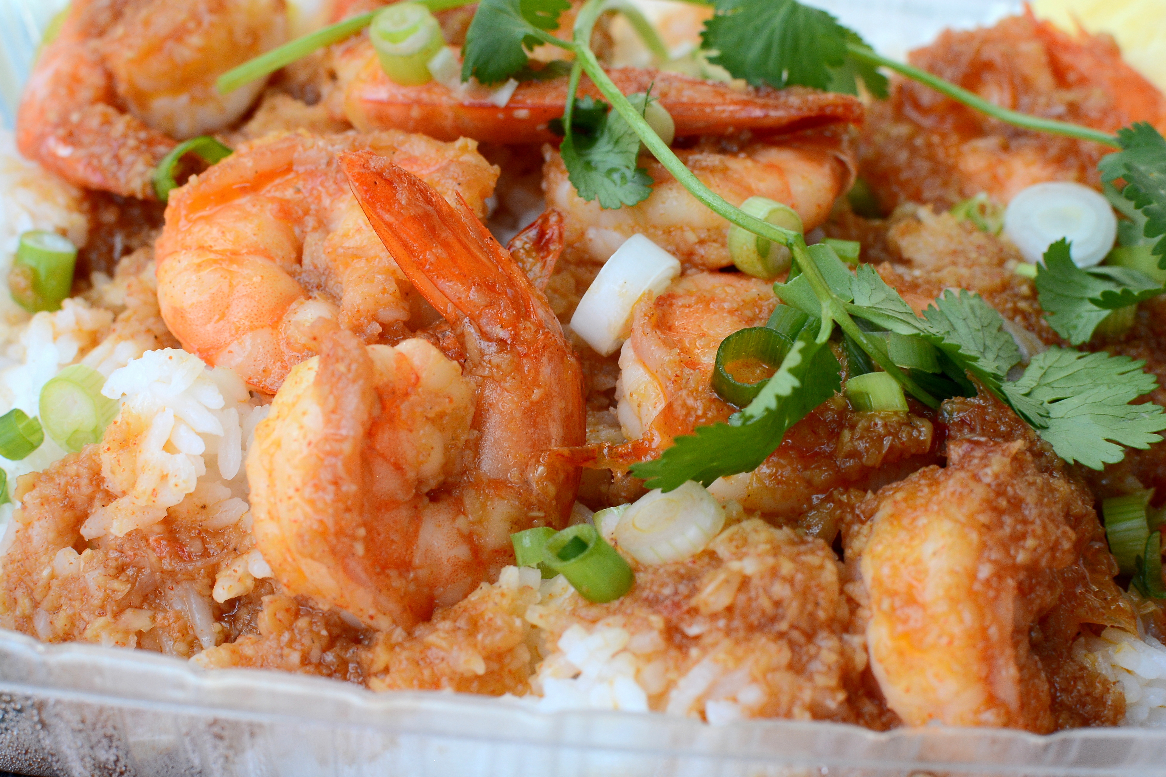 Garlic shrimp from A&J Seafood Shack in Long Beach.