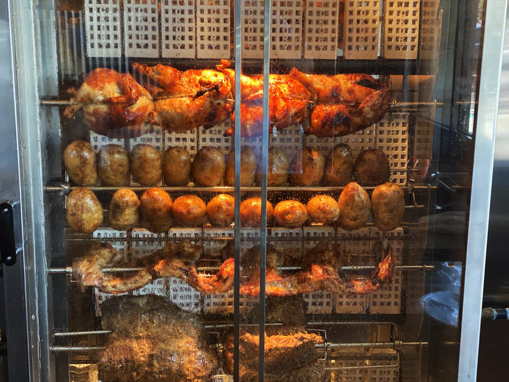 The Old Hickory Rotisserie cooking the menu at Chick N Coop in Henderson.