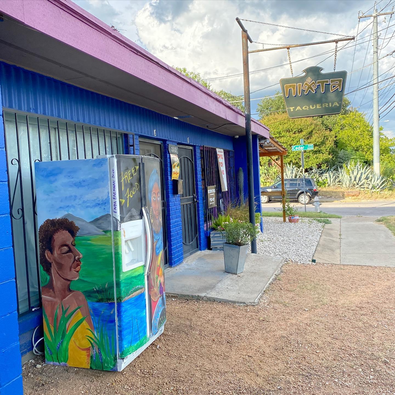 Austin Free Fridge Project's first community fridge at Nixta Taqueria
