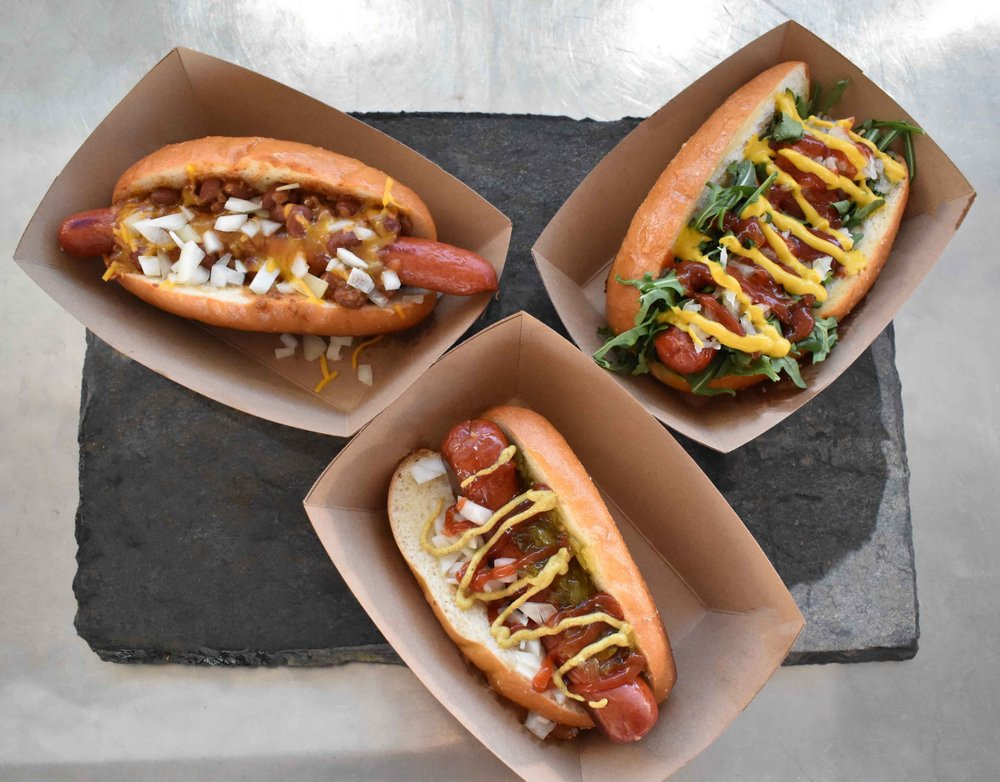 Hot dogs from Grem's Good Dogs