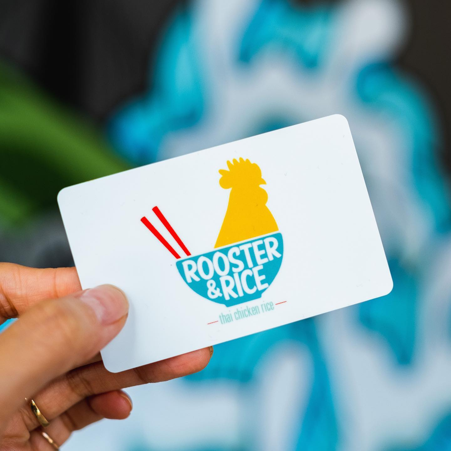 Restaurant gift card from Rooster & Rice