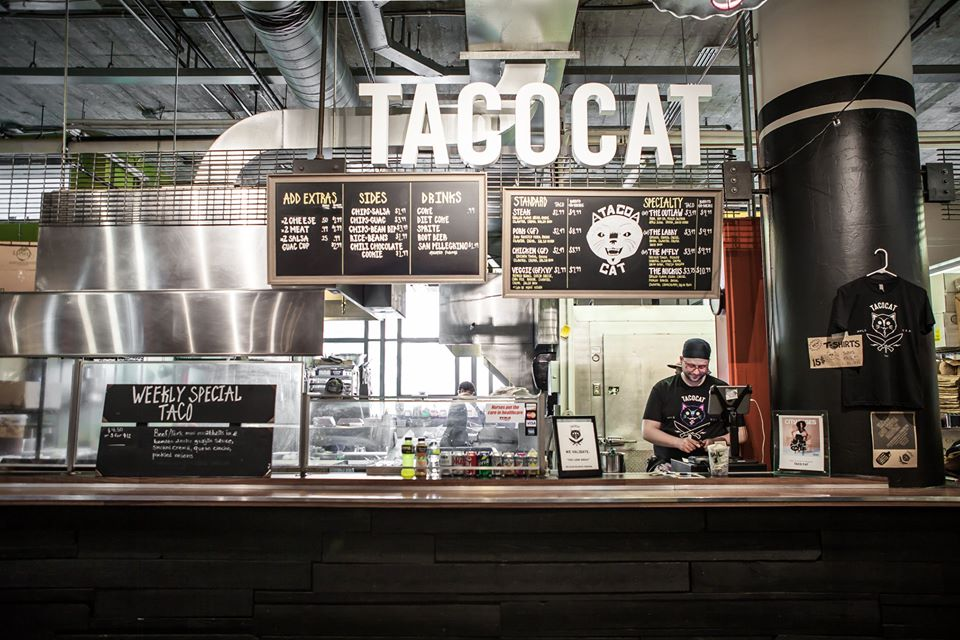 The Taco Cat stand inside Midtown Global Market