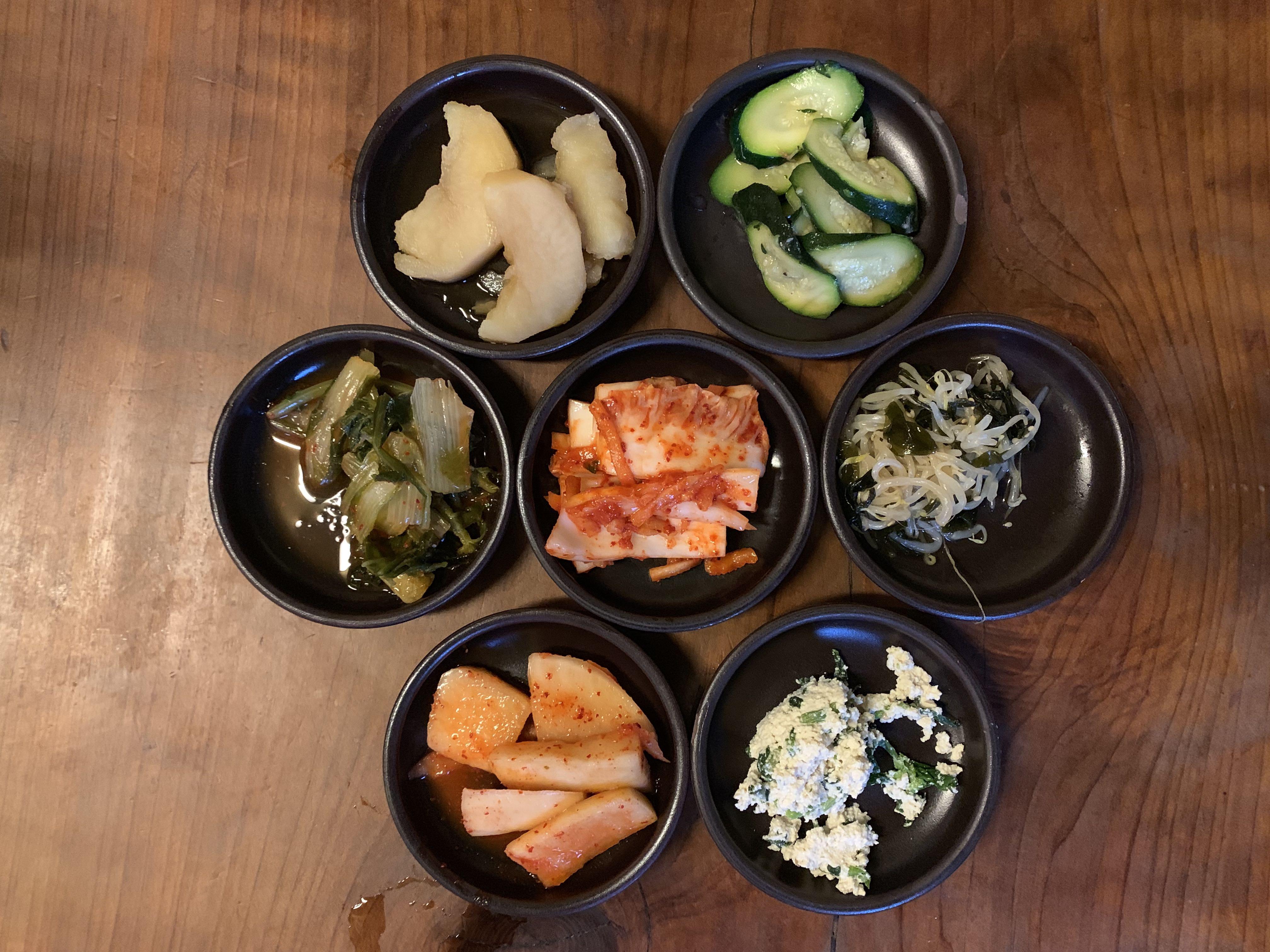 Banchan at Pyeong Chang Tofu