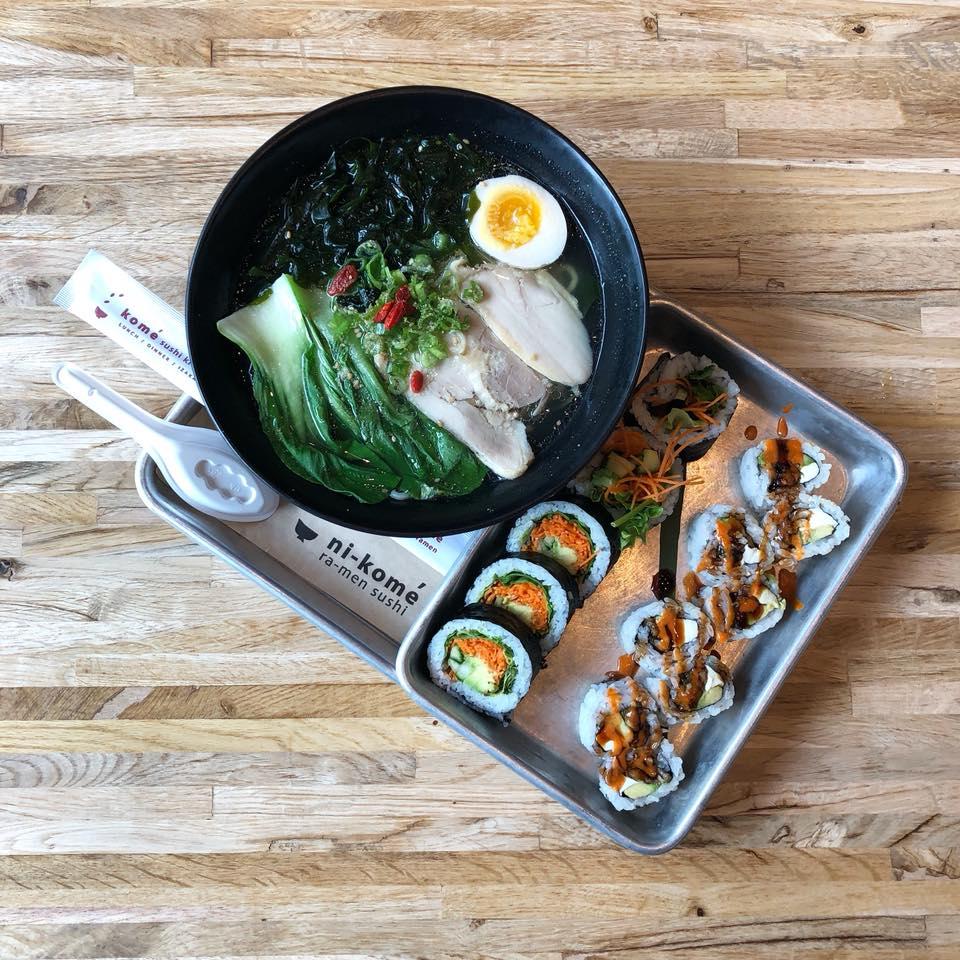 Ramen and sushi from Ni-Kome