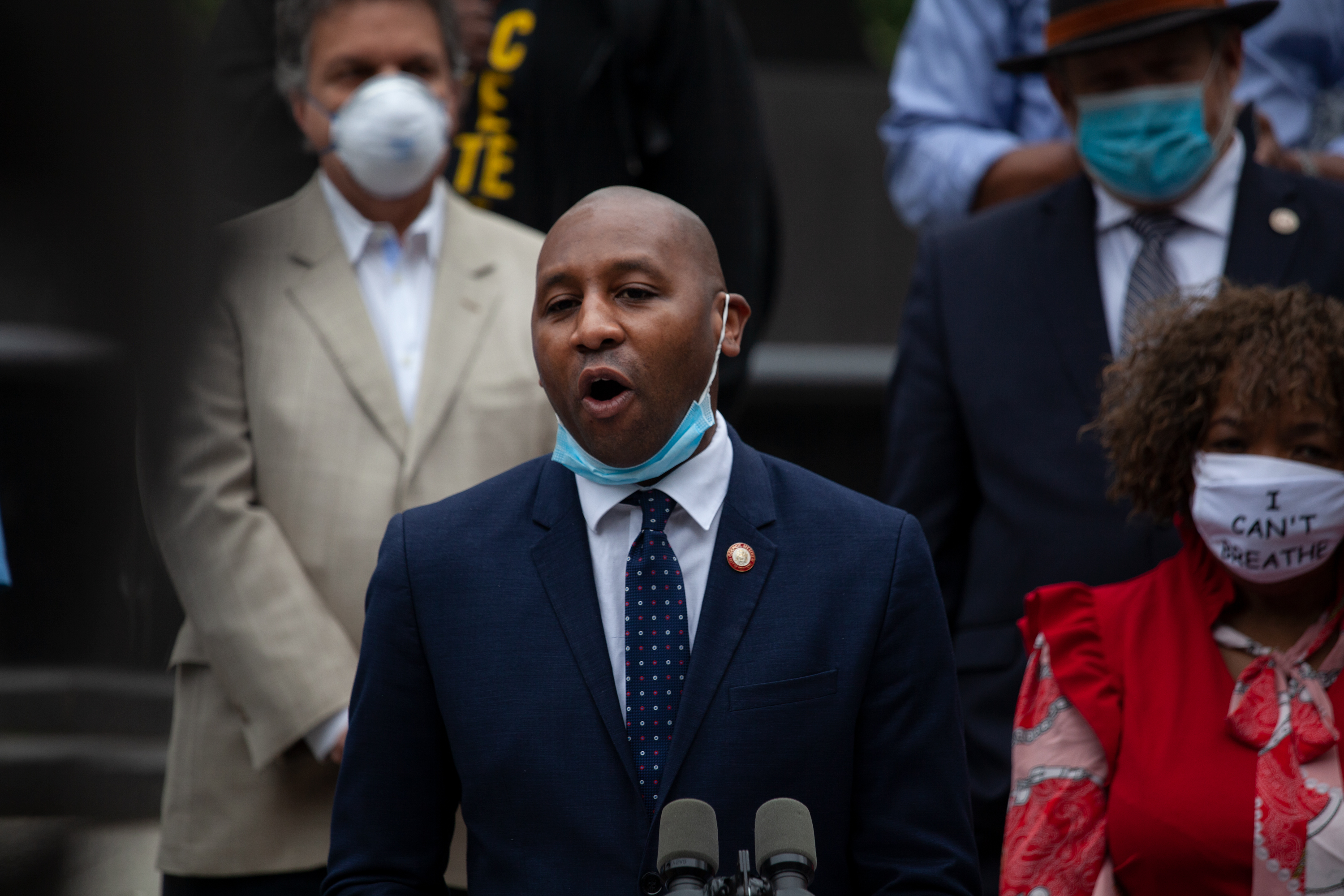 Councilmember Donovan Richards (D-Queens) at a press conference in Foley Square, June 2, 2020.