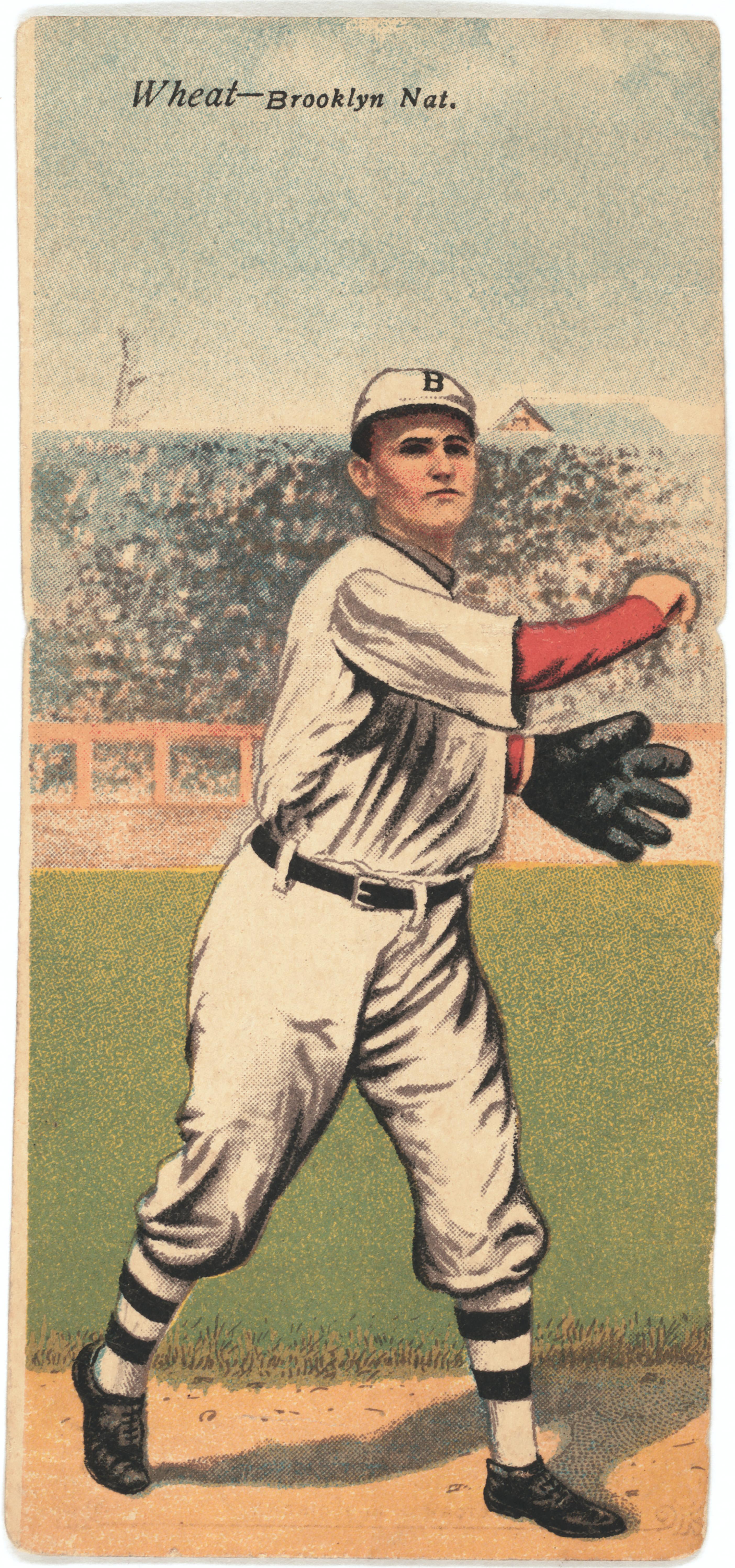 Zack D Wheat, Brooklyn Dodgers, Baseball Card Portrait, American Tobacco Company, 1911