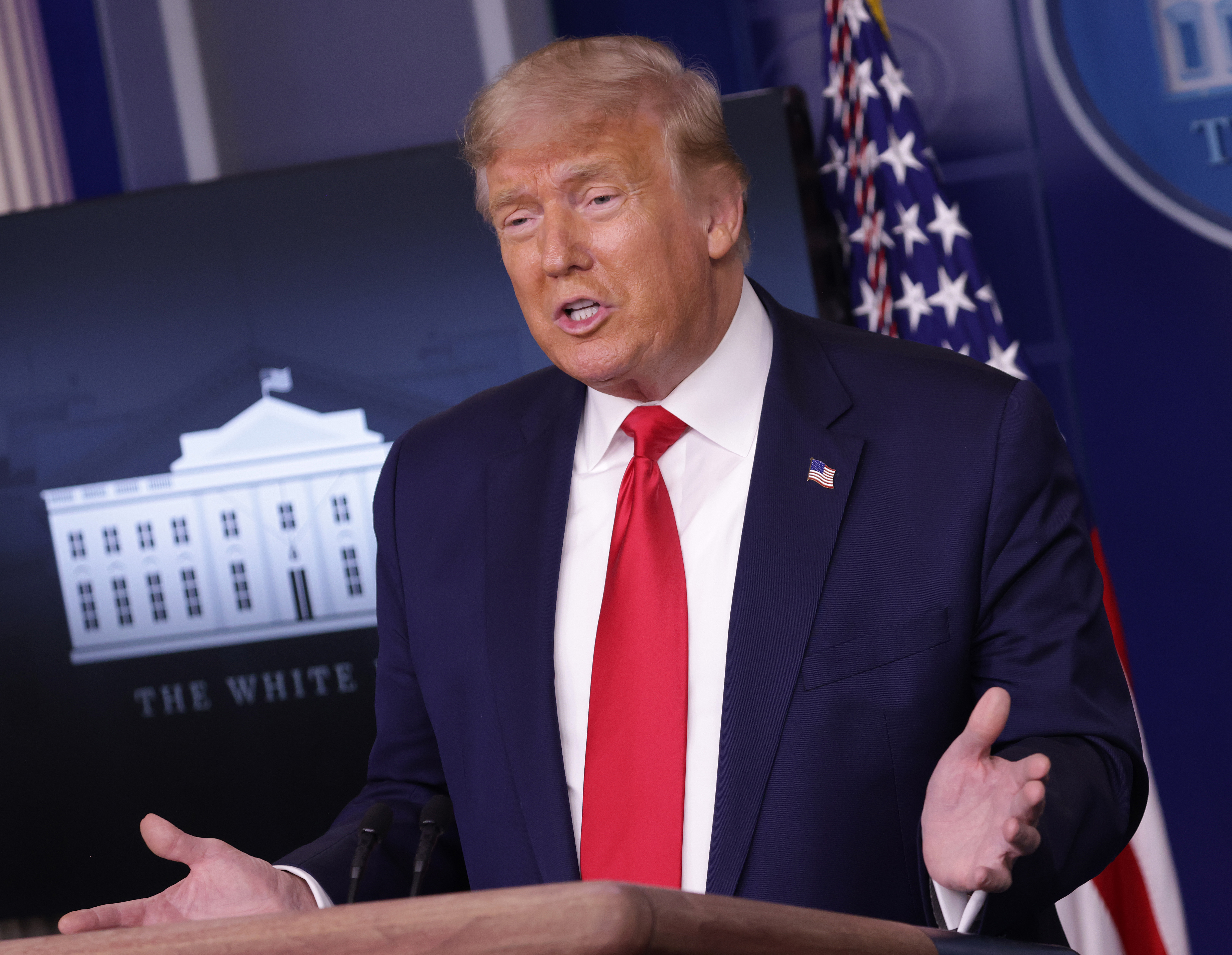 President Trump Holds News Conference In The White House